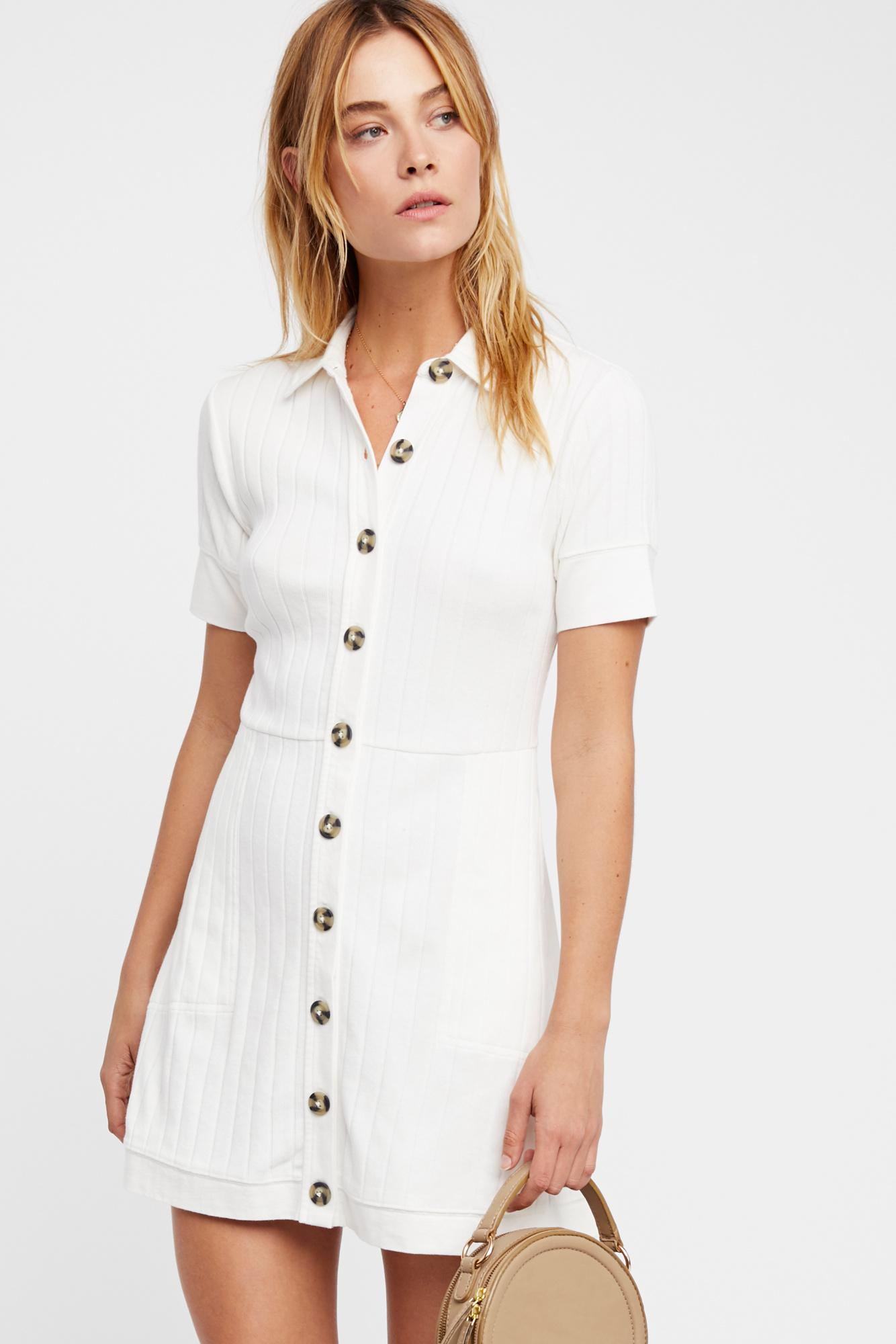 83ee13e4a6 Free People New Afternoon Mini Dress By Fp Beach in White - Lyst