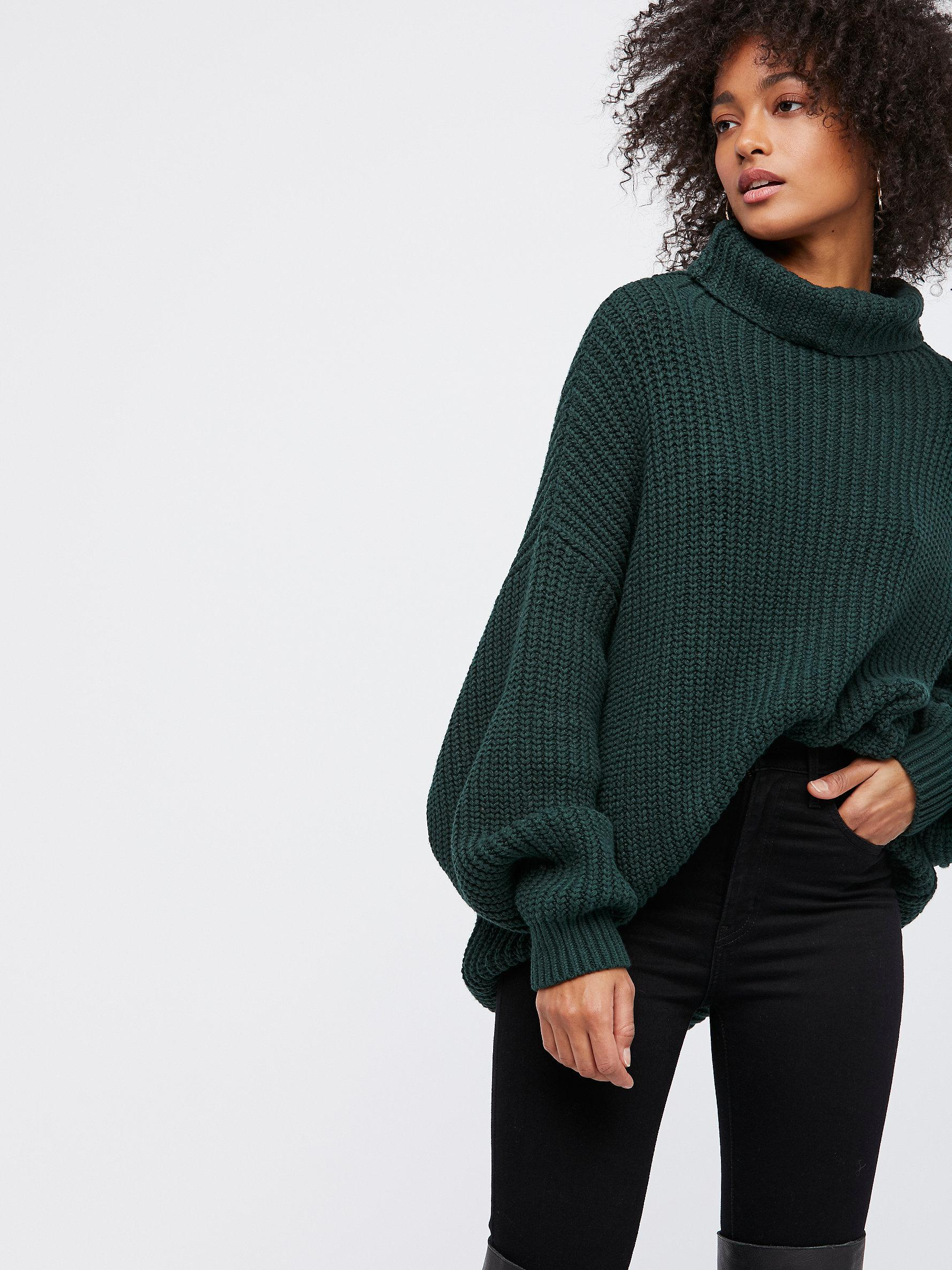Lyst Free People Swim Too Deep Pullover In Green
