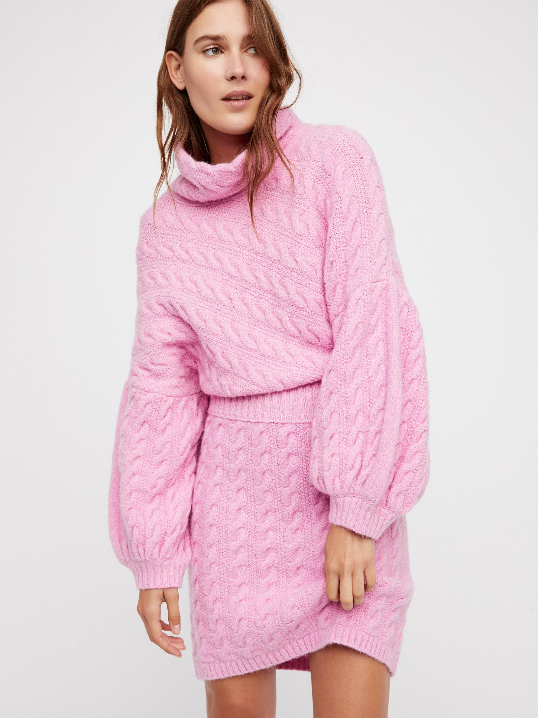 60e24d7d7e45 Lyst - Free People Meant To Be Jumper Dress in Pink