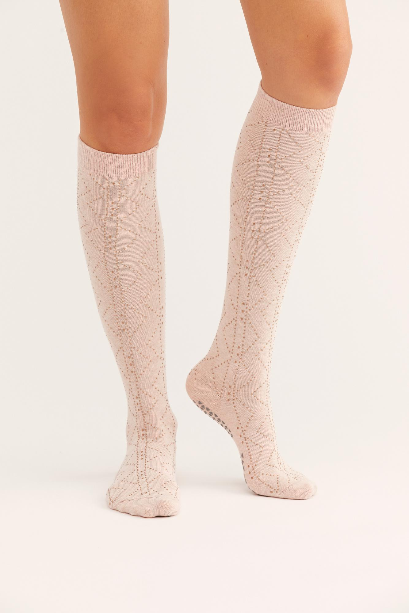 ab5c90864ef Free People Jane Studded Knee-high Grip Sock By Tavi Noir - Lyst