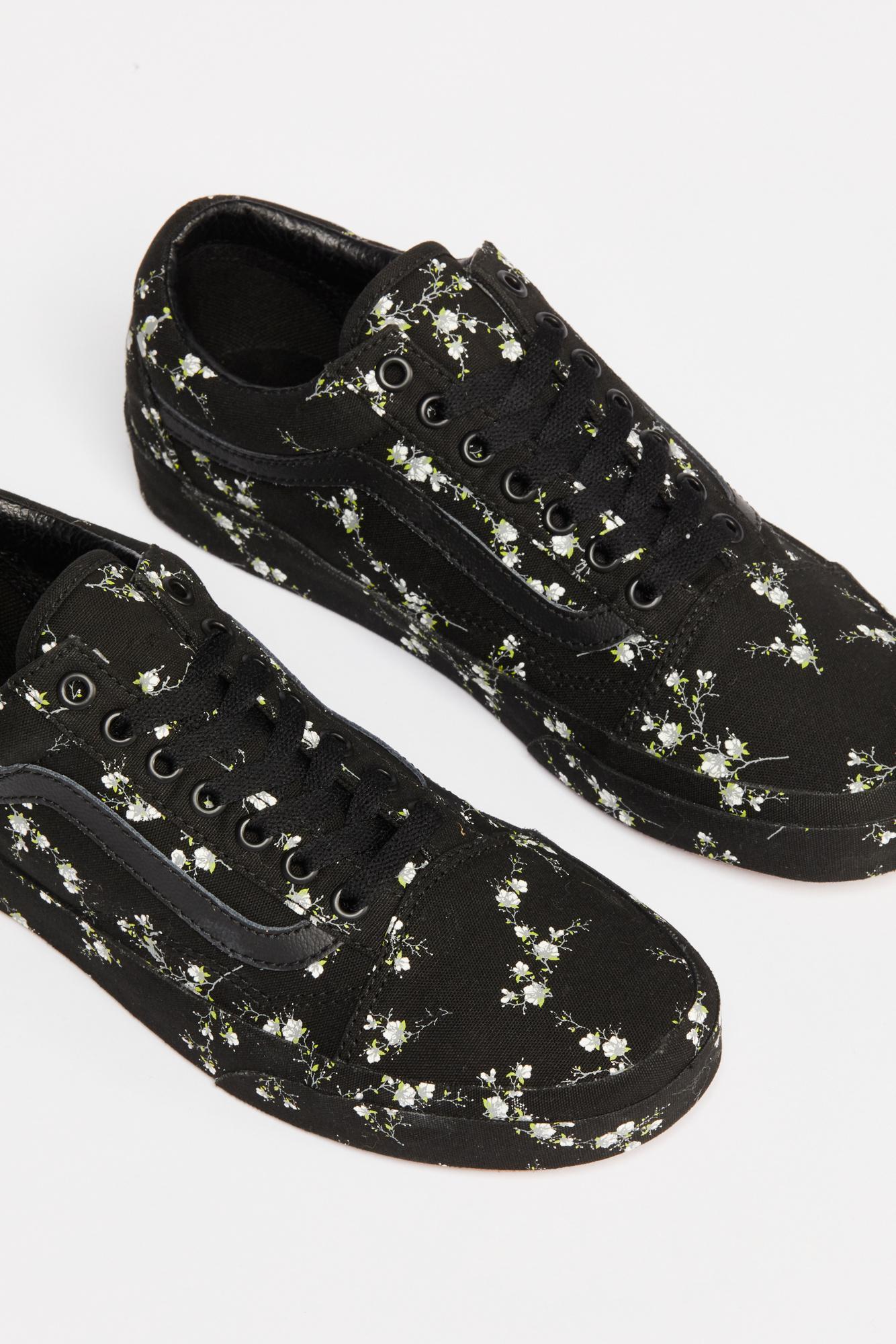 4fef0b8290 Lyst - Free People Old Skool Midnight Floral Sneaker in Black