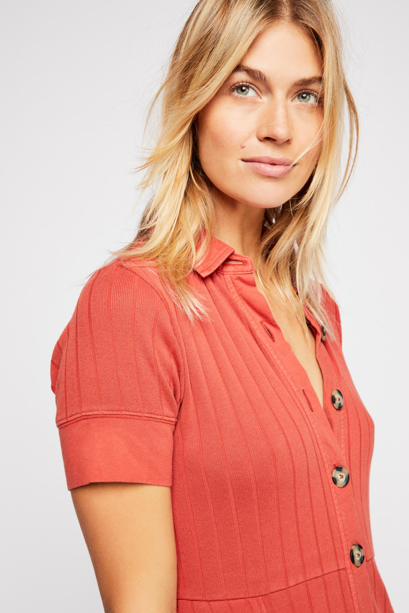 221d02adb8 Free People New Afternoon Mini Dress By Fp Beach in Red - Lyst