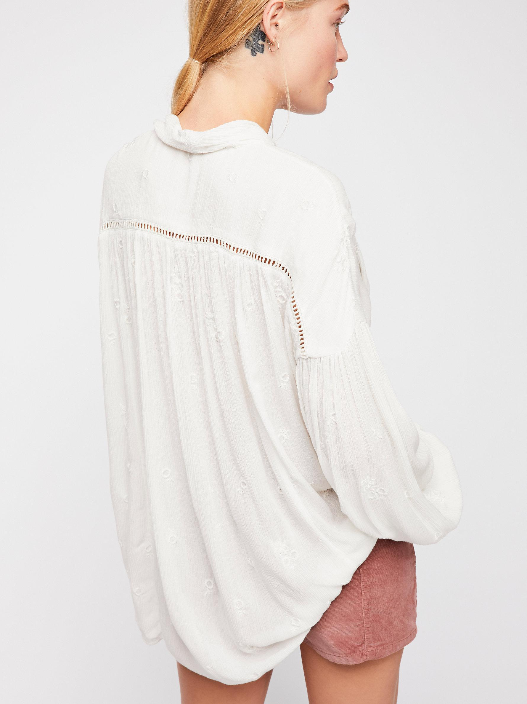 e8e239e6611974 Free People Wishful Moments Blouse in White - Lyst