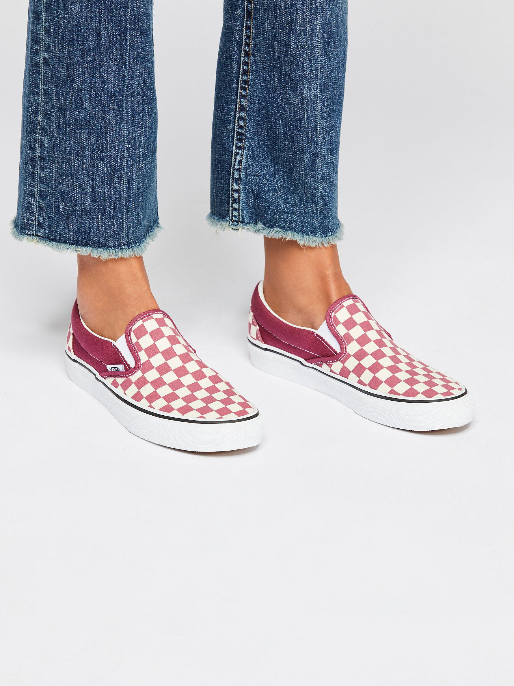 first rate 67726 1d18a Lyst - Free People Classic Checkered Slip-on