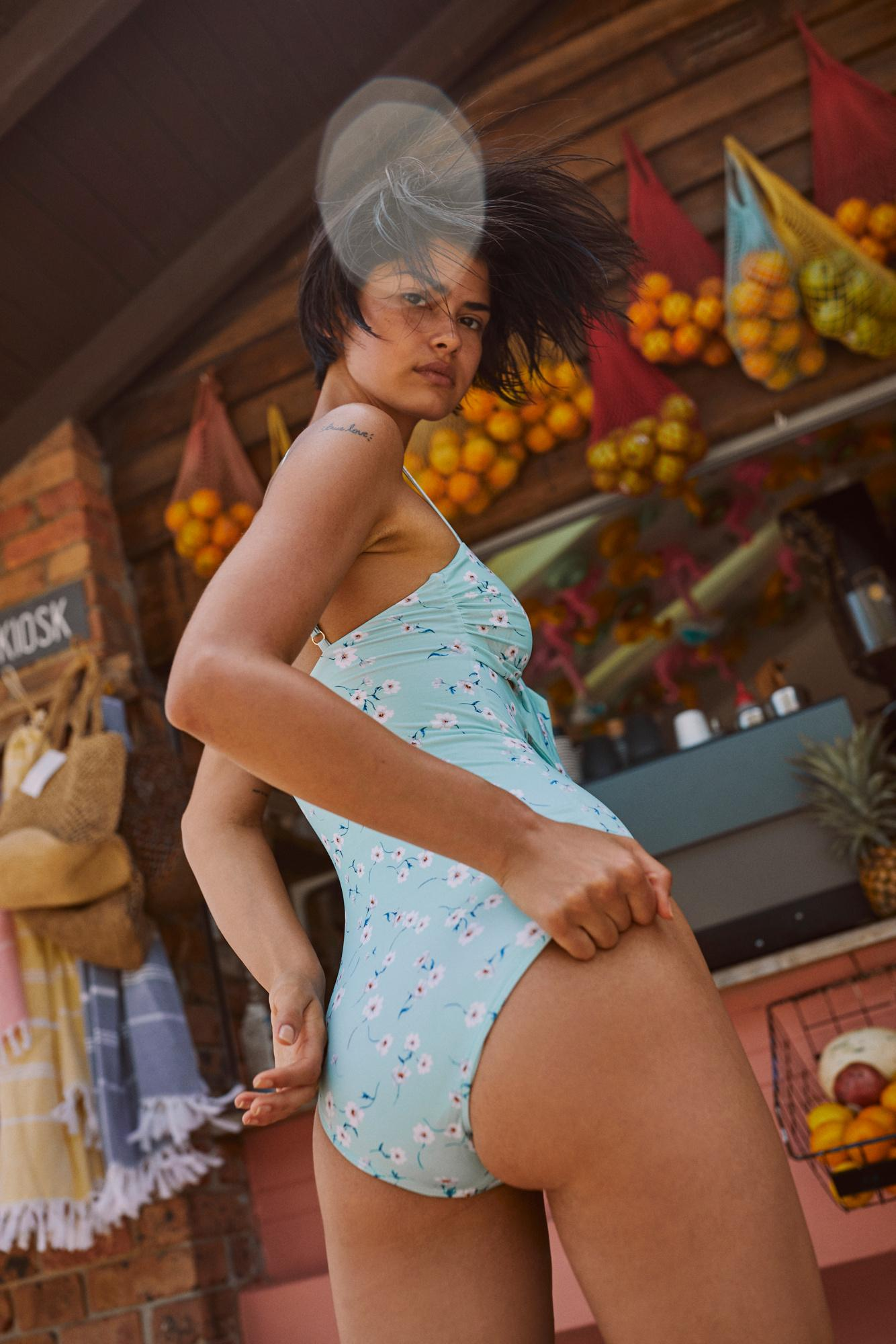 b9e8340af66a1 Mia Printed One-piece Swimsuit By Beach Riot - Lyst. View fullscreen