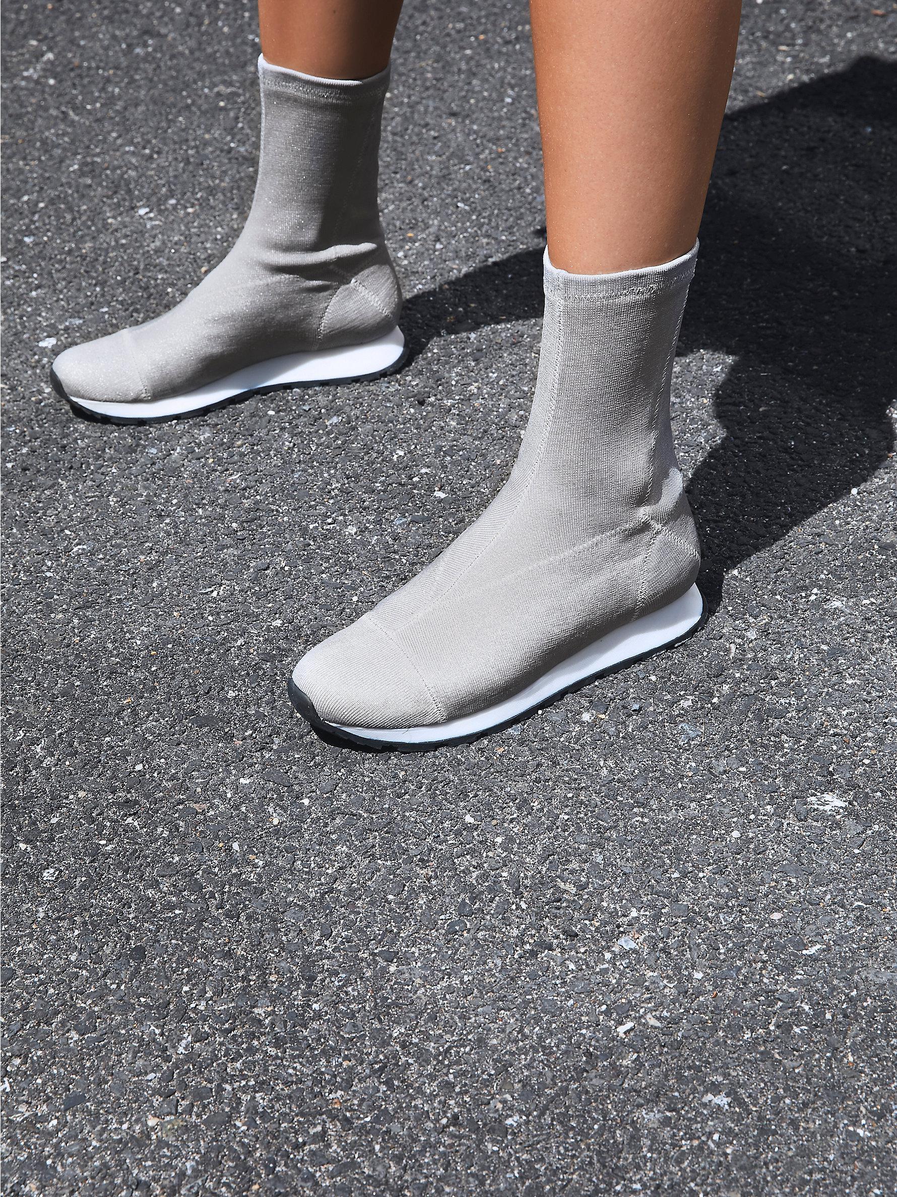 Free People Astral Sneaker Boot In Metallic Lyst