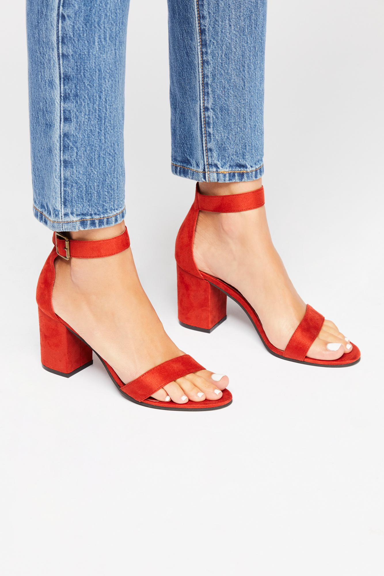 1c080e8f5828 Lyst - Free People Vegan Block Party Heel By Matisse in Red