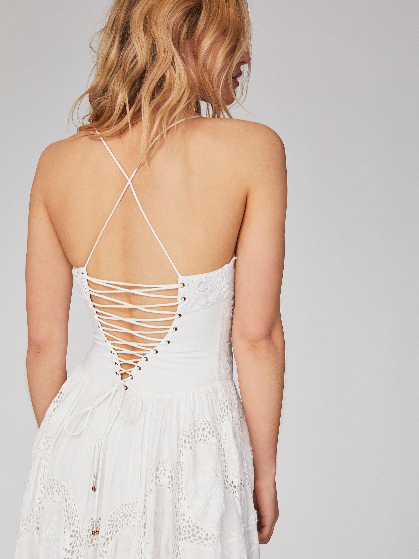 931c5f148b1a Free People Love To Love You Cutwork Dress in White - Lyst