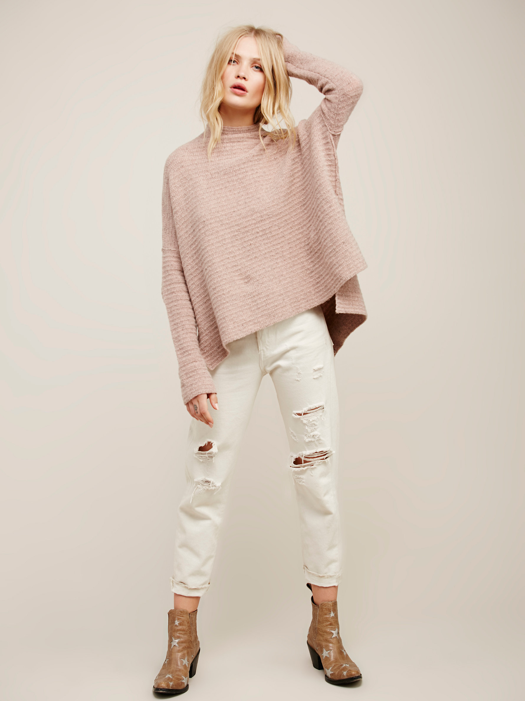 Free people Arctic Fox Sweater in Pink | Lyst
