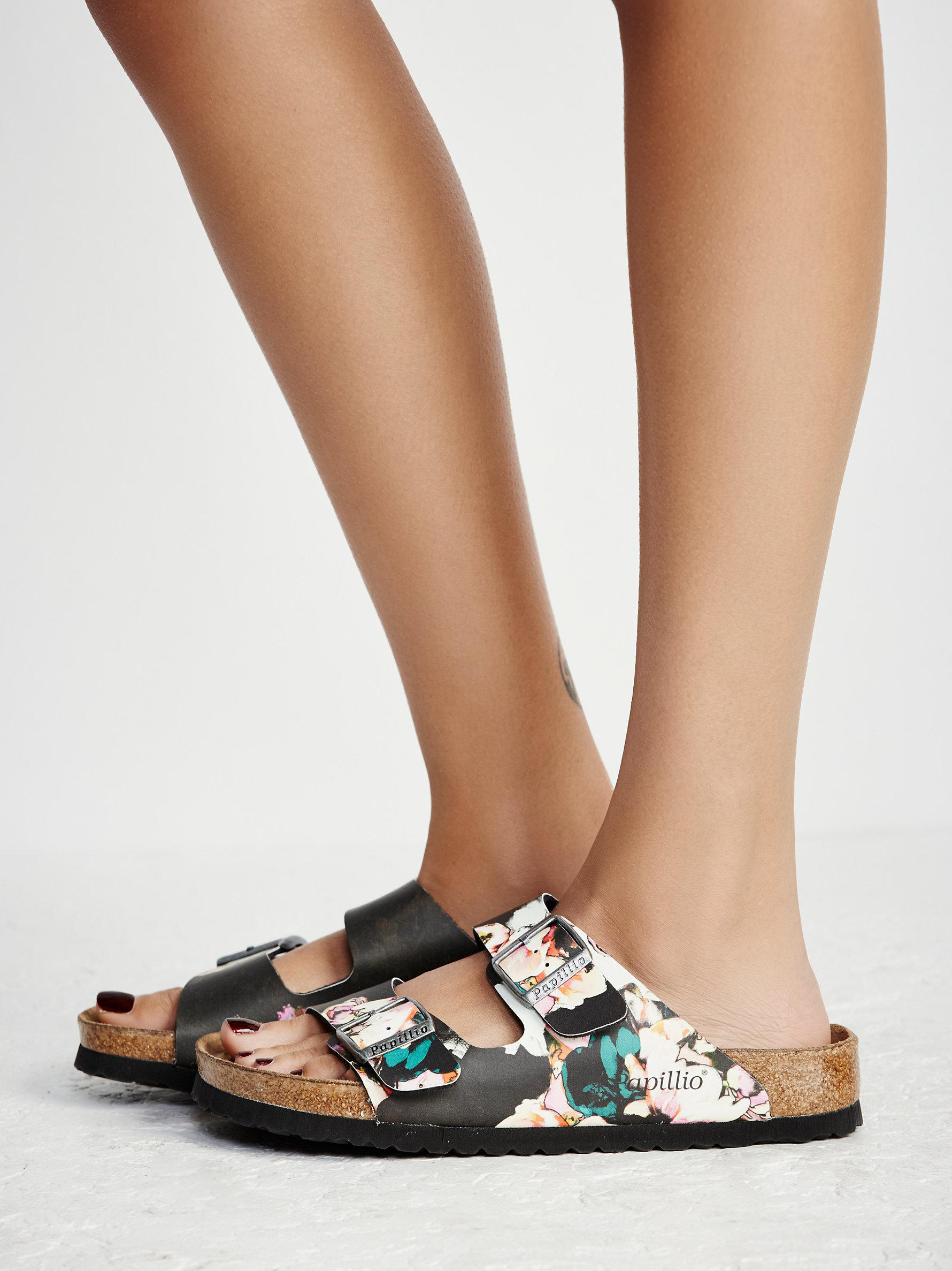 Lyst Free People Arizona Floral Birkenstock In Black