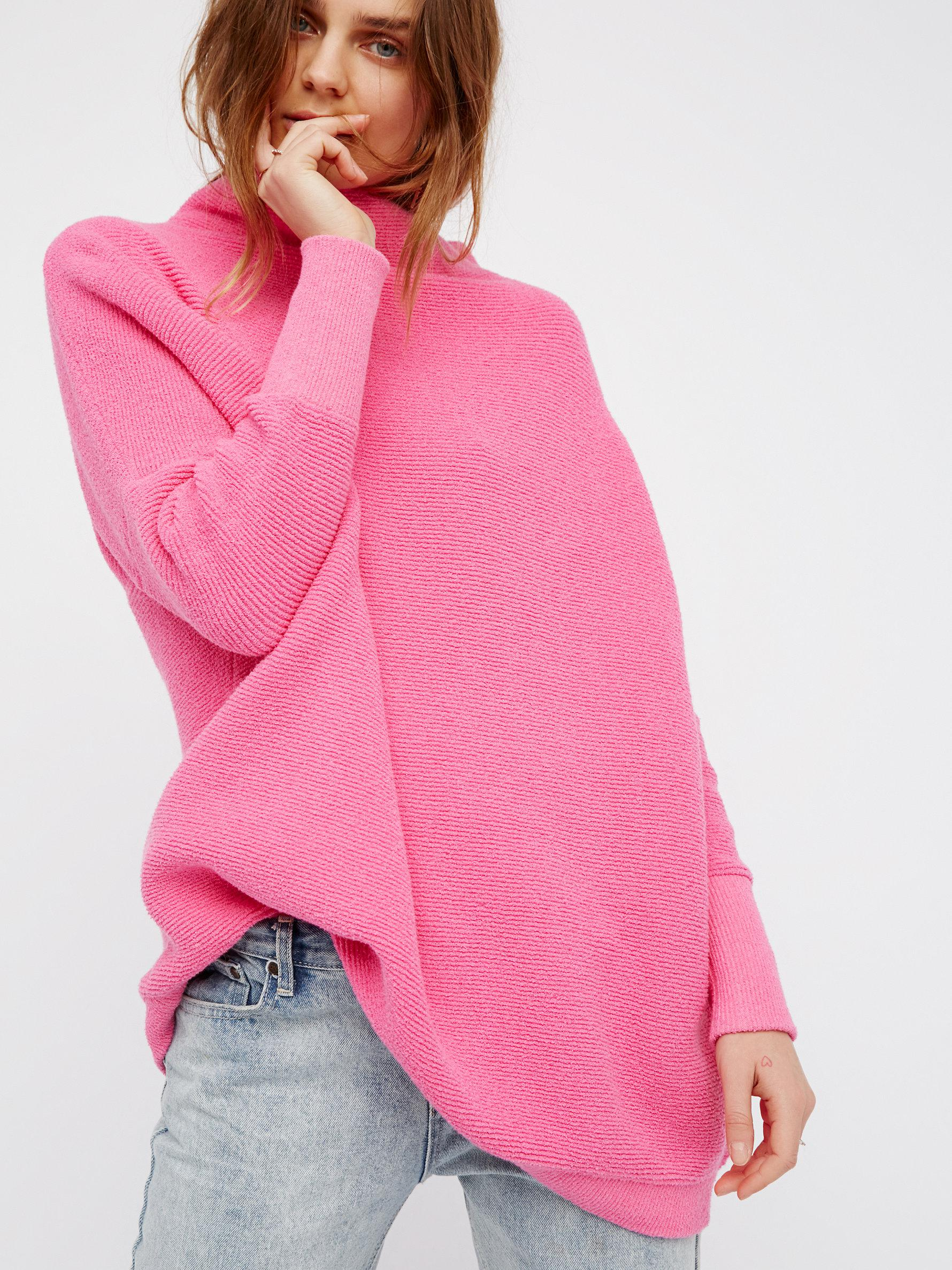 Free people Ottoman Slouchy Tunic in Pink | Lyst