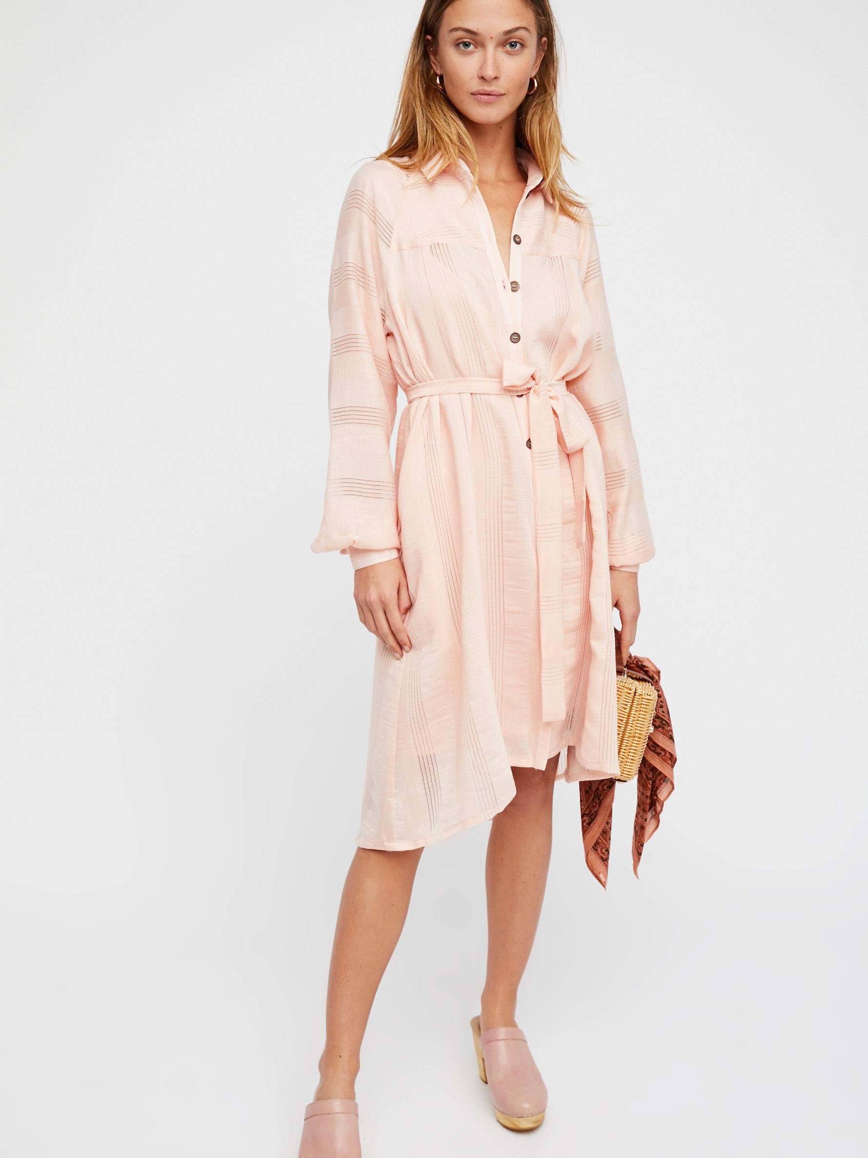 8bfe165869 Free People Great Escape Shirt Dress in Pink - Lyst
