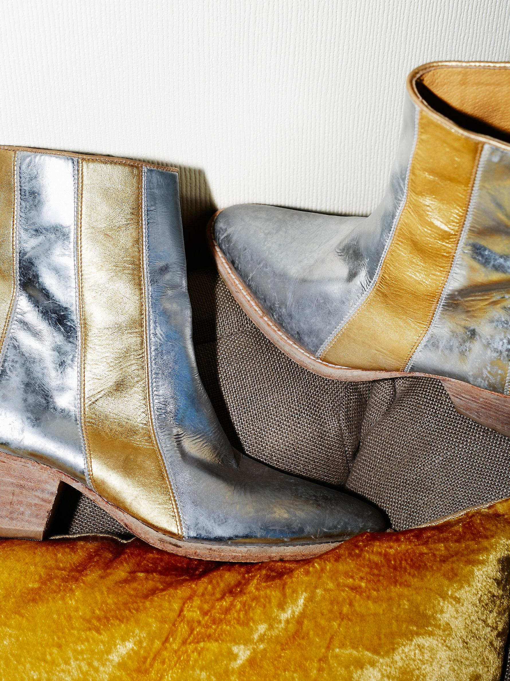 Lyst Free People Barkley Western Boot In Metallic