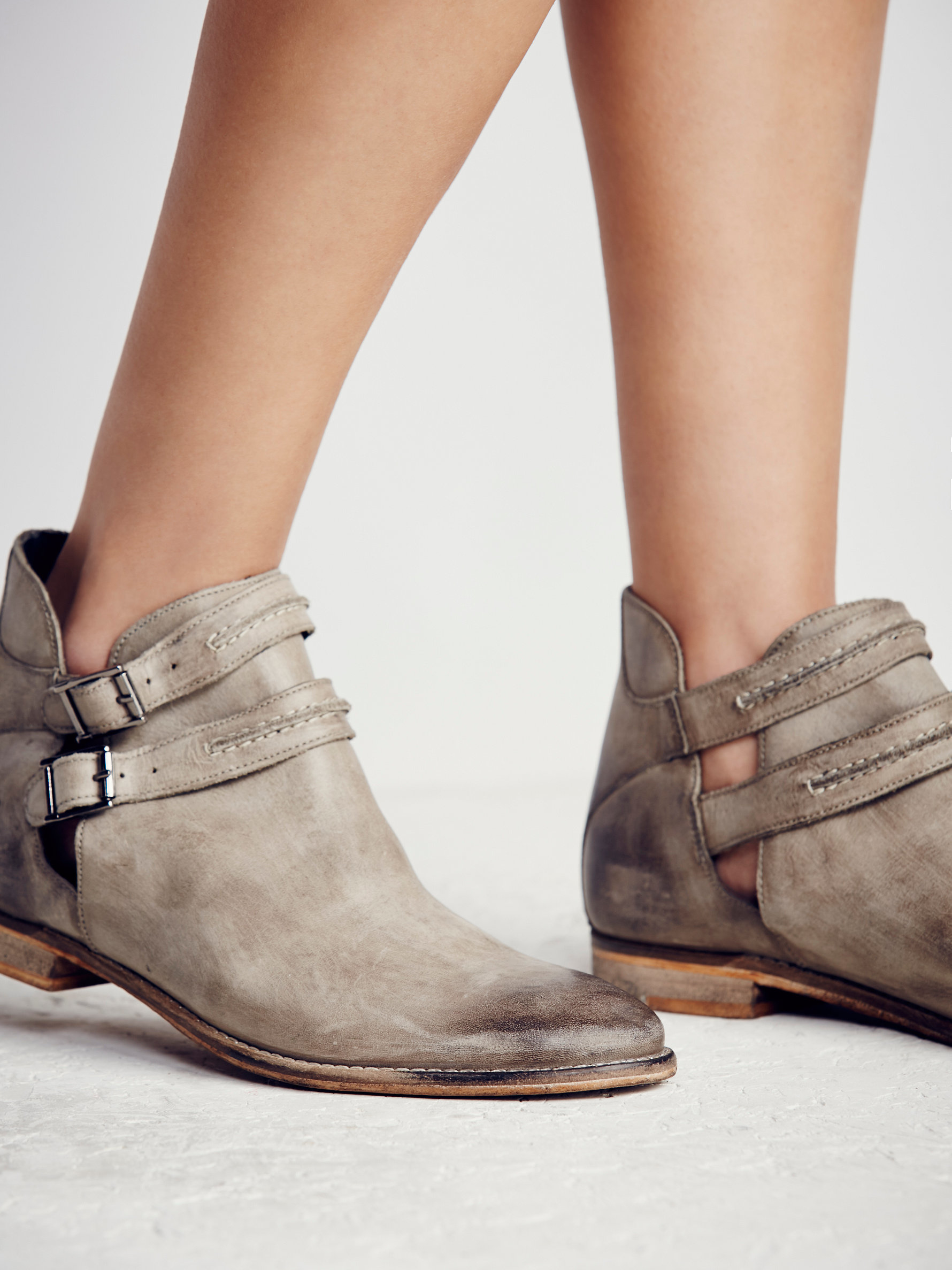 c8805d8dc301 Lyst - Free People Braeburn Ankle Boot in Gray