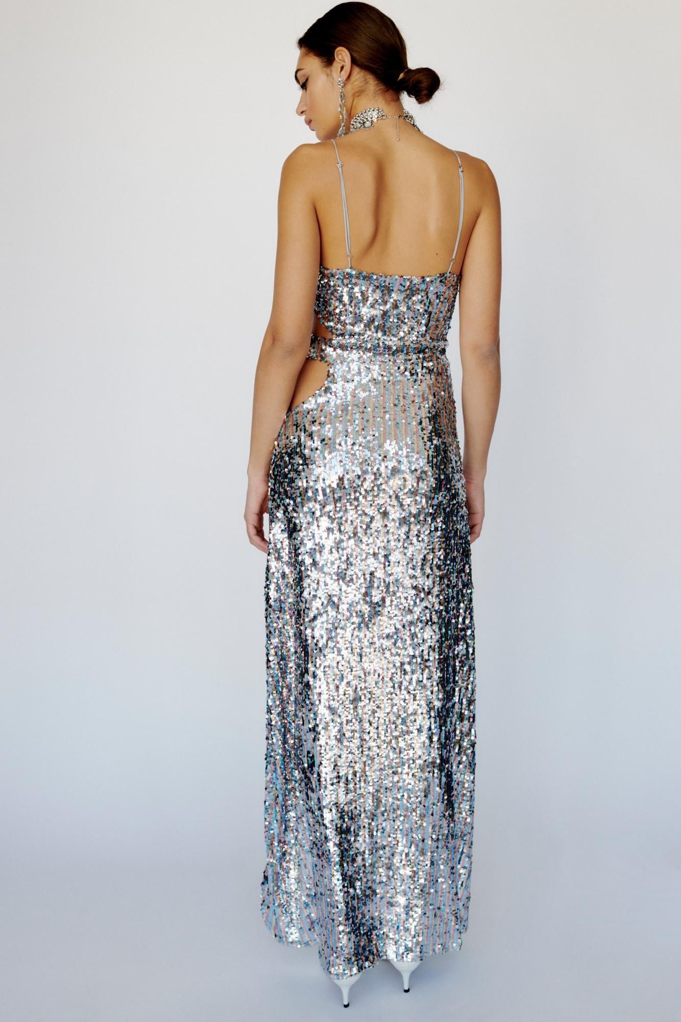 3d0ce01058 Free People Showtime Maxi Dress By For Love & Lemons in Metallic - Lyst