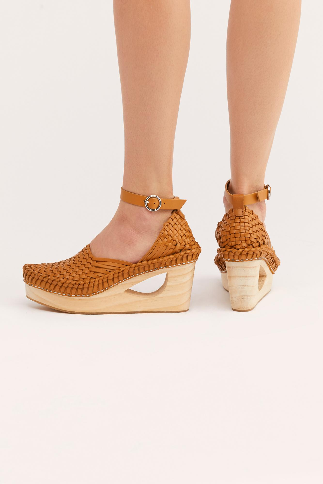 6c39860068ab Lyst - Free People Teagan Huarache Clog By Fp Collection