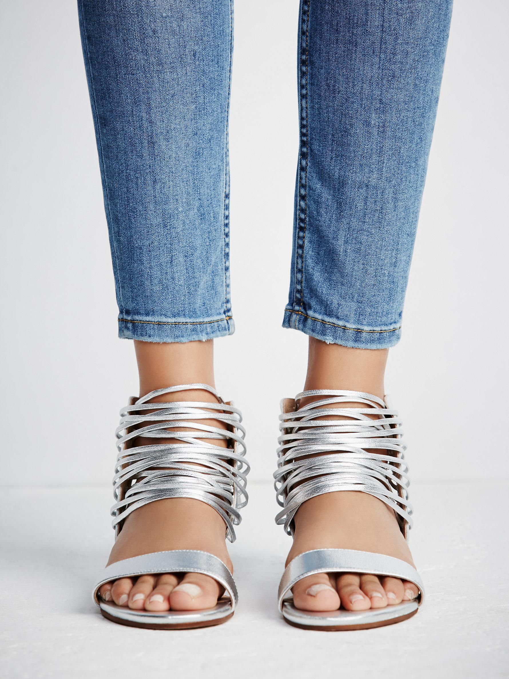 1d753bae861 Lyst - Free People Cascading Mini Wedge Sandal
