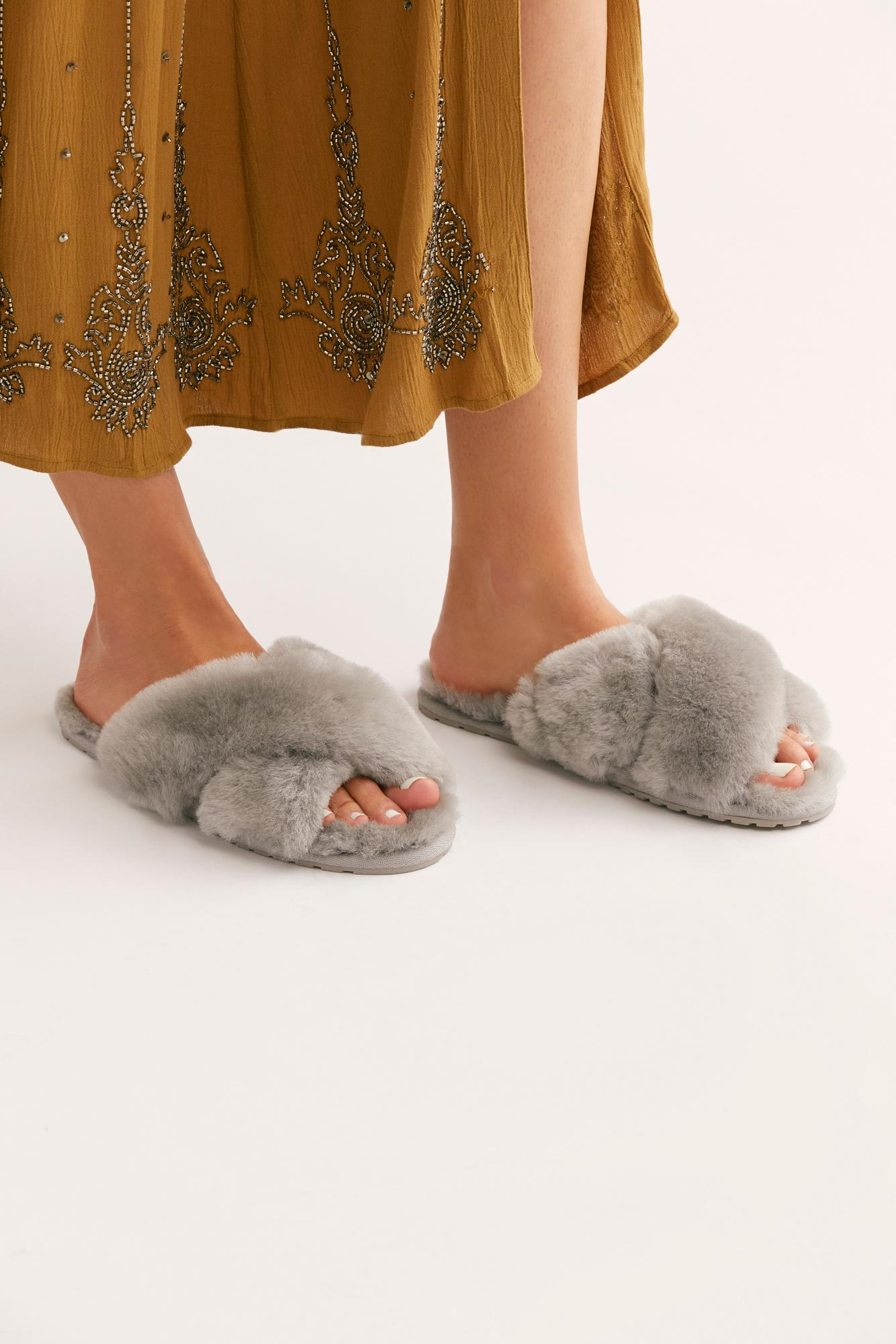 a1be40dcb93a Lyst - Free People Mayberry Slipper By Emu Australia in Gray