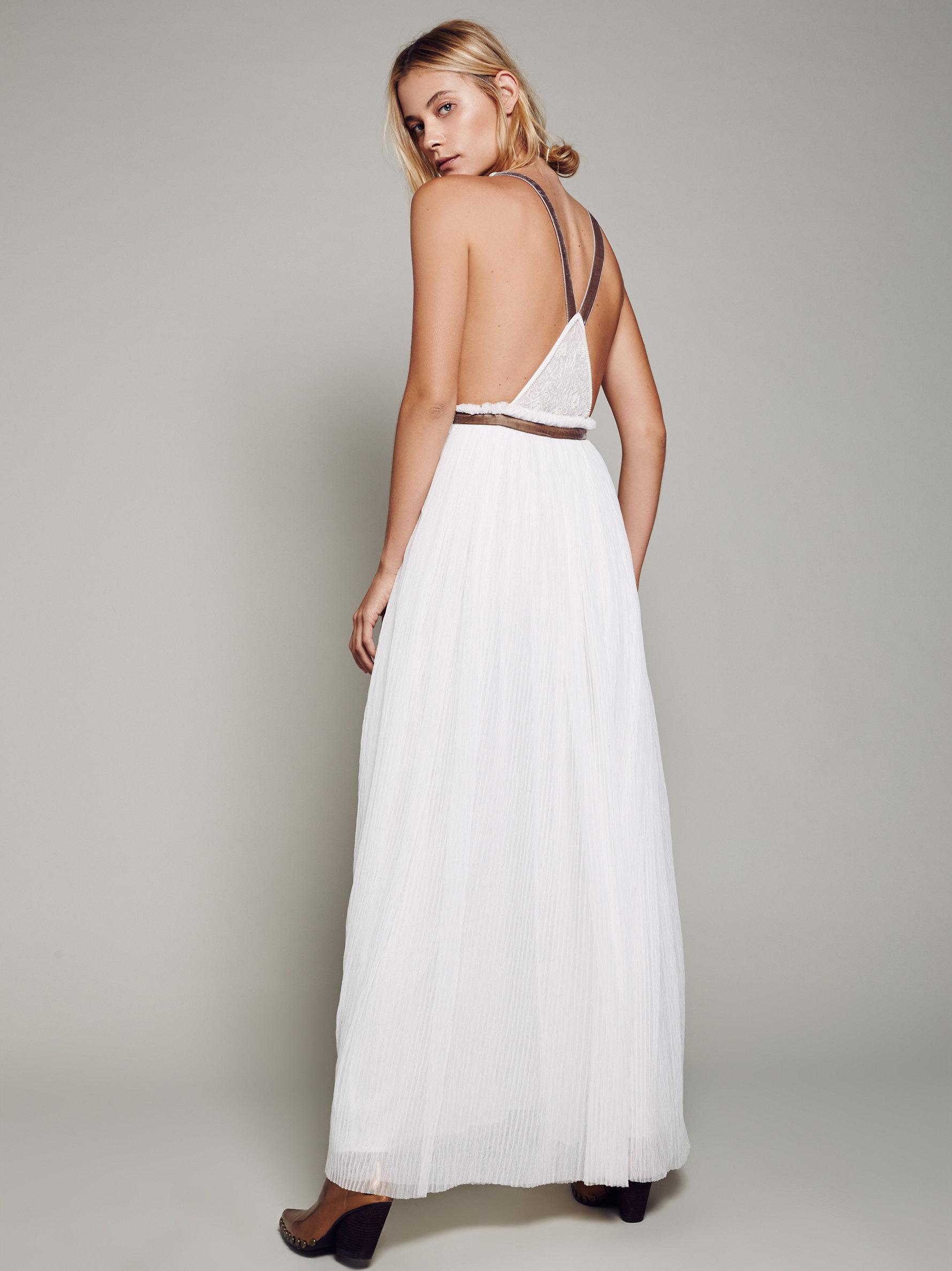 Lyst - Free People Cleo Maxi Dress in White