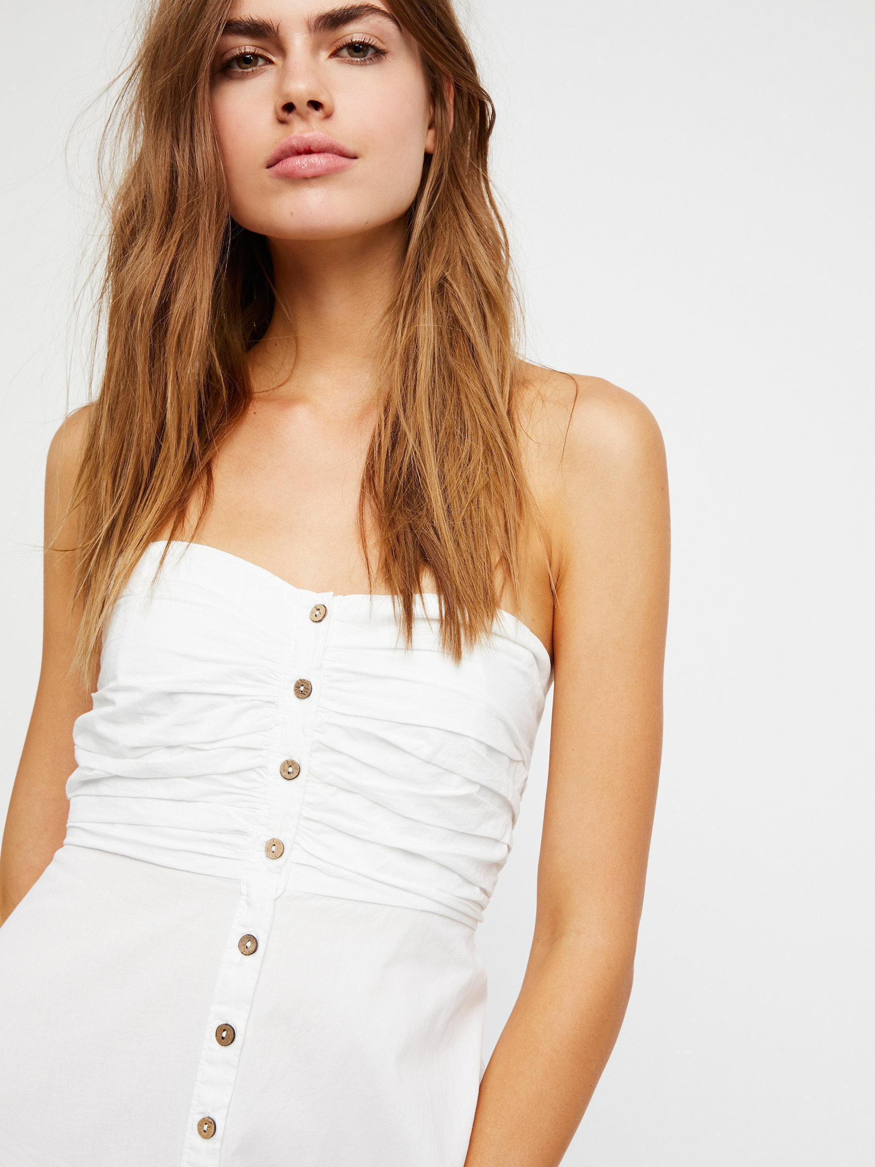 180585efcf Lyst - Free People The Isha Tube Midi Dress in White