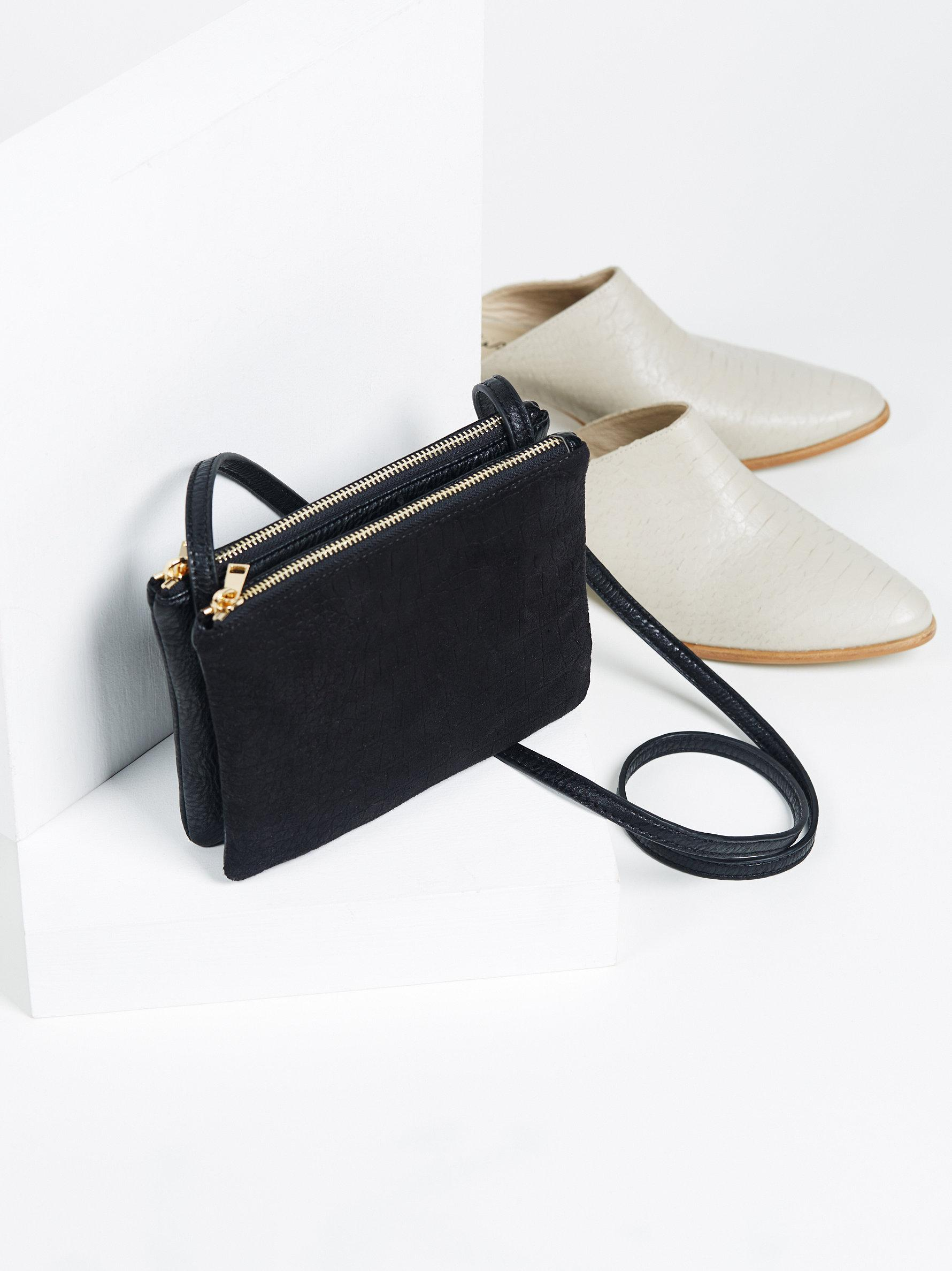 3a4f80f1fa Lyst - Free People Downtown Double Zip Crossbody in Black