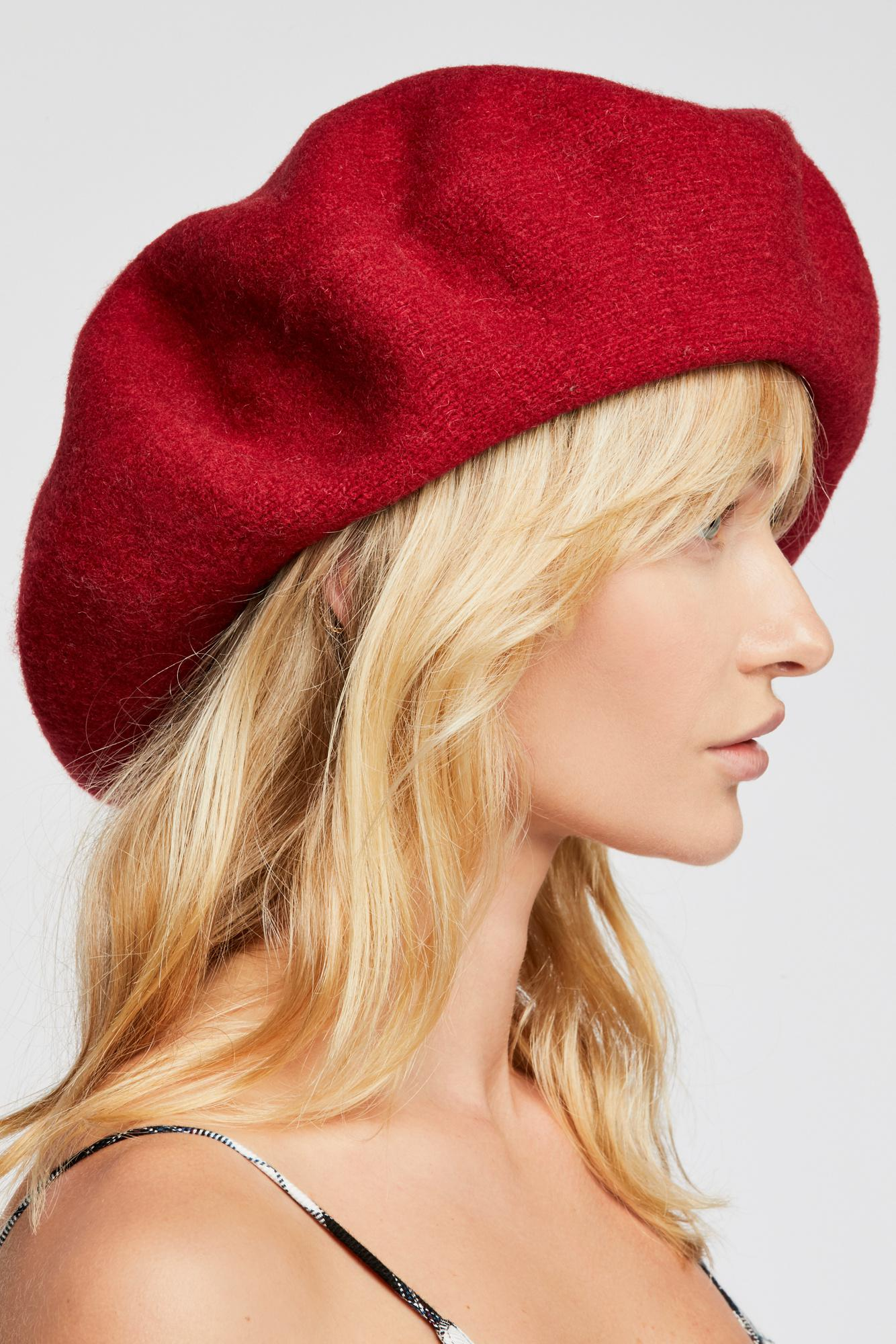 Lyst - Free People Margot Slouchy Beret in Red 4fae33b2b2a