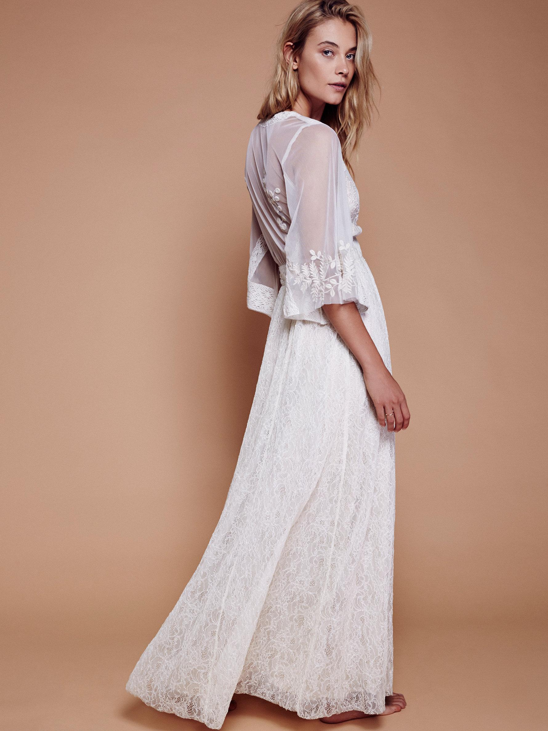 b9094099cf Free People Eclair Lace Maxi Dress in White - Lyst