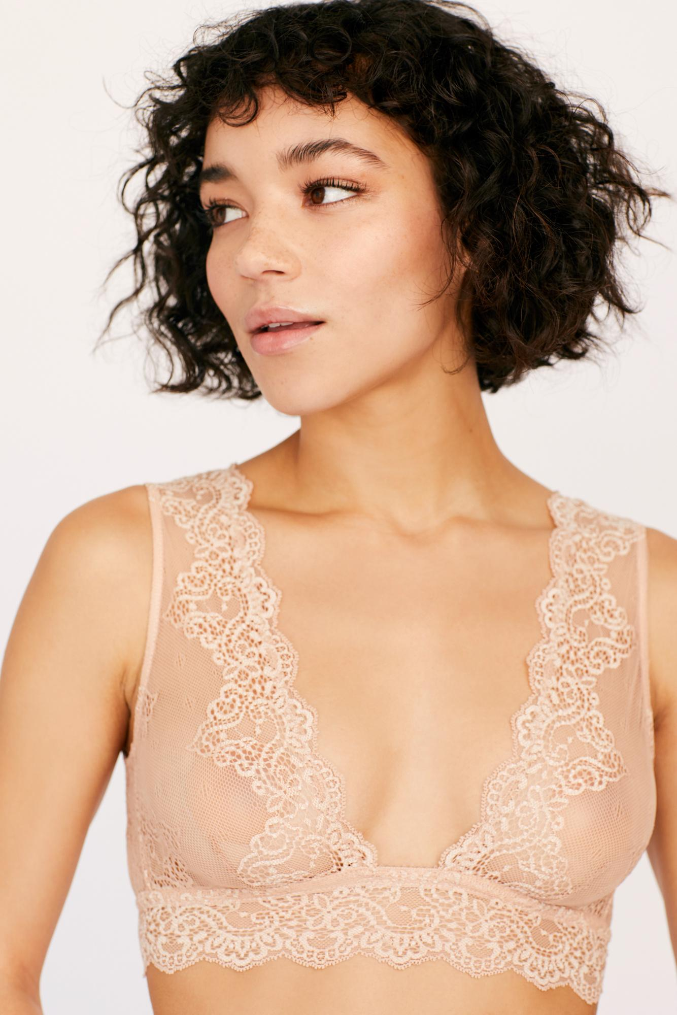 83ca1489f50 Lyst - Free People So Fine Lace Tank Bralette By Only Hearts in Natural