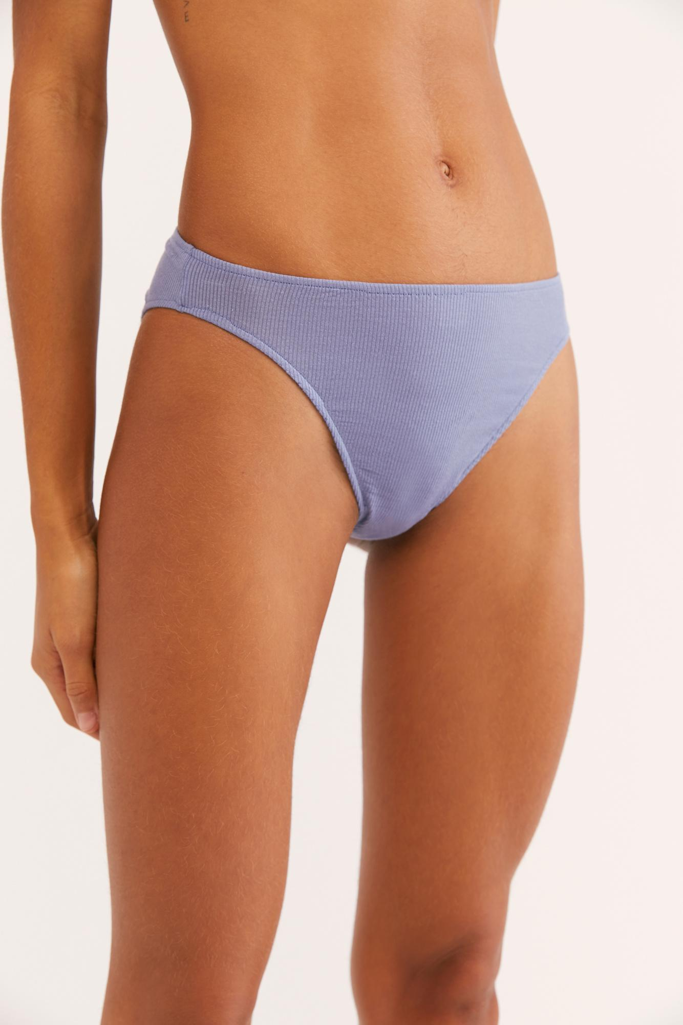 0eeaaf050a3 Lyst - Free People Feather Rib Highcut Brief By Only Hearts in Blue
