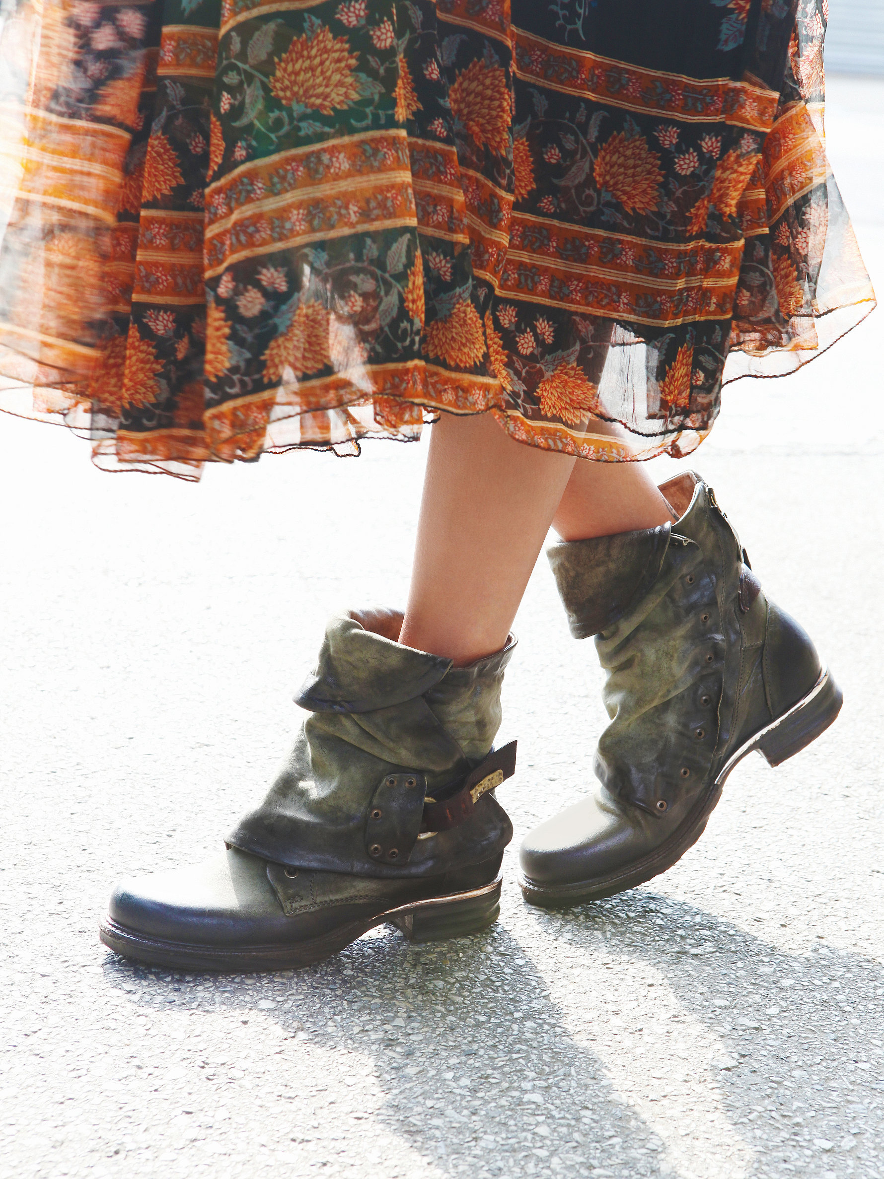 Free People Emerson Ankle Boot In Green Lyst
