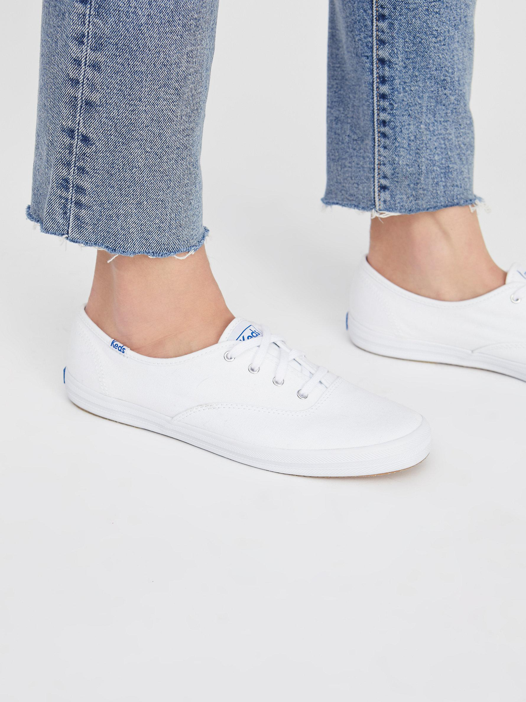 017a4d678c5 Lyst - Free People Keds Champion Sneaker in White
