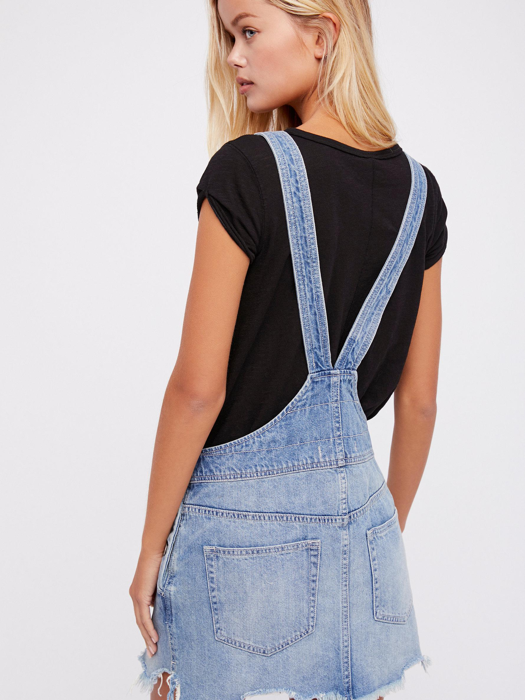 14ab9293d14 Lyst - Free People Torn Up Jumper in Blue