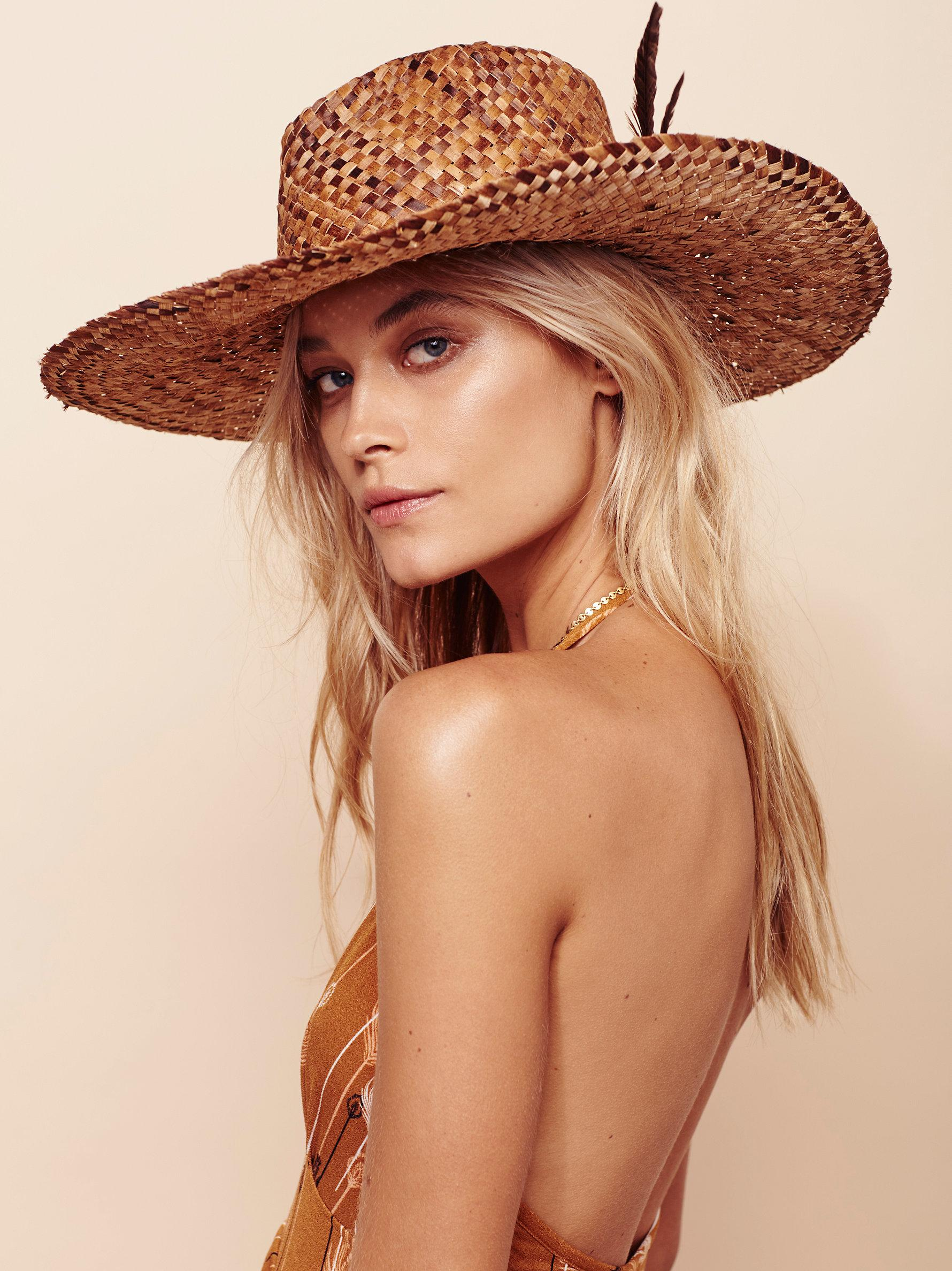 Free People Fallon Straw Hat In Natural Lyst