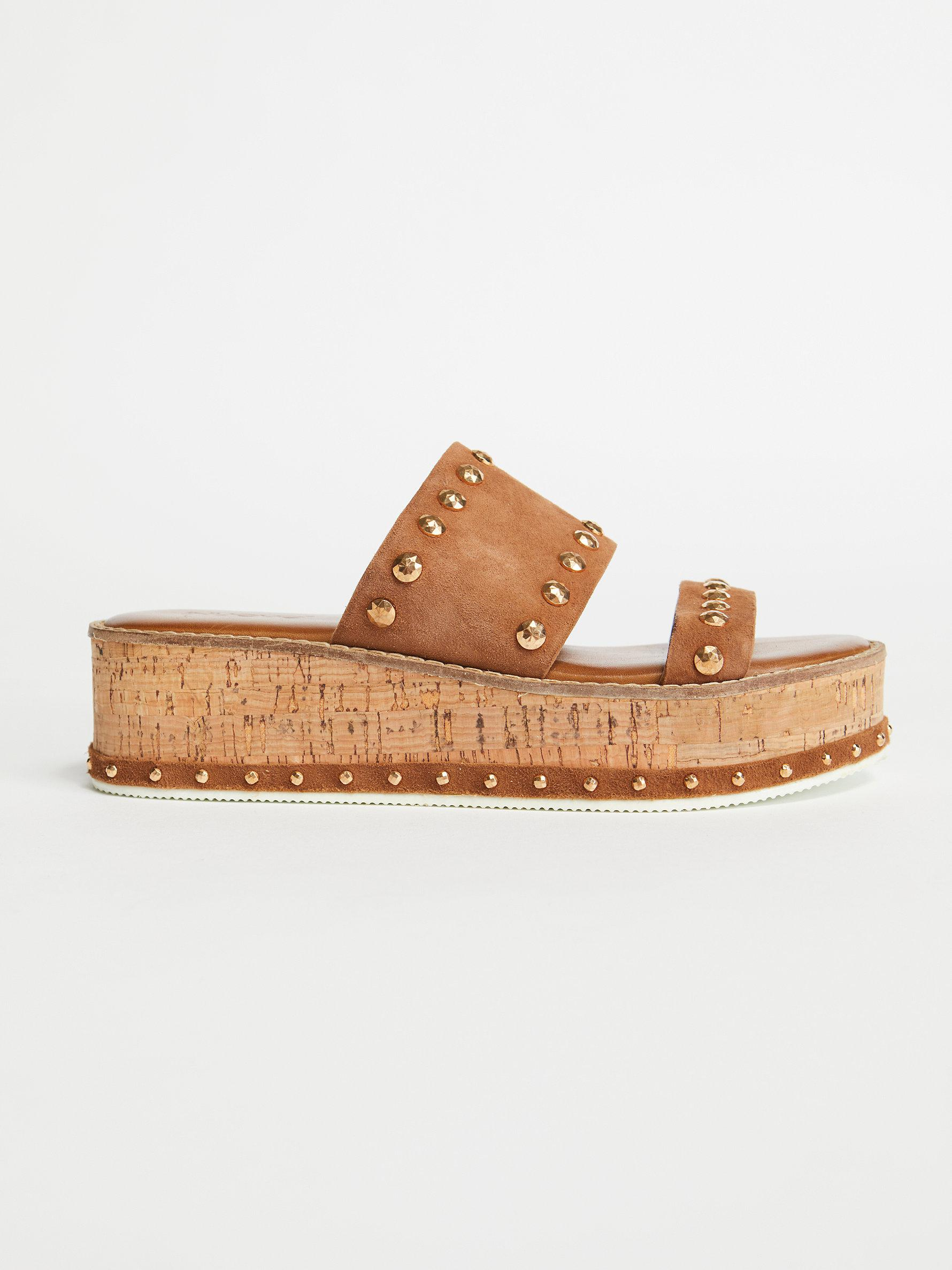 12a4e276c175 Lyst - Free People Lola Flatform Sandal in Brown
