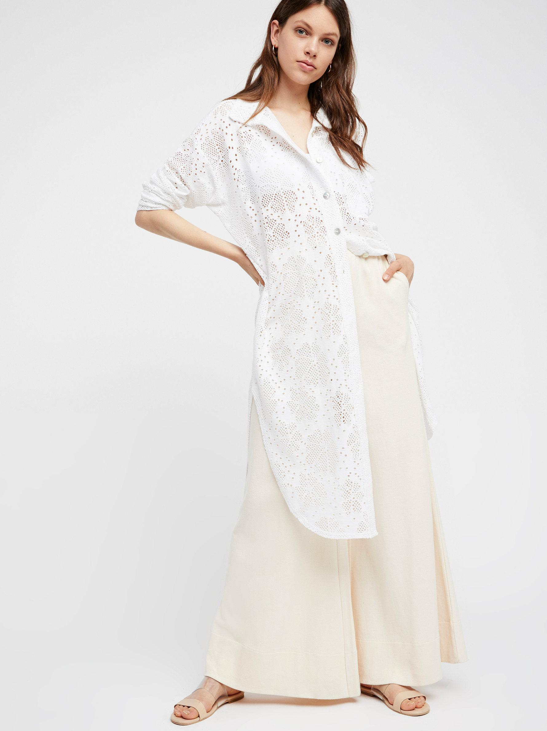Free people Fp Beach Moonrise Maxi Cardigan in White | Lyst