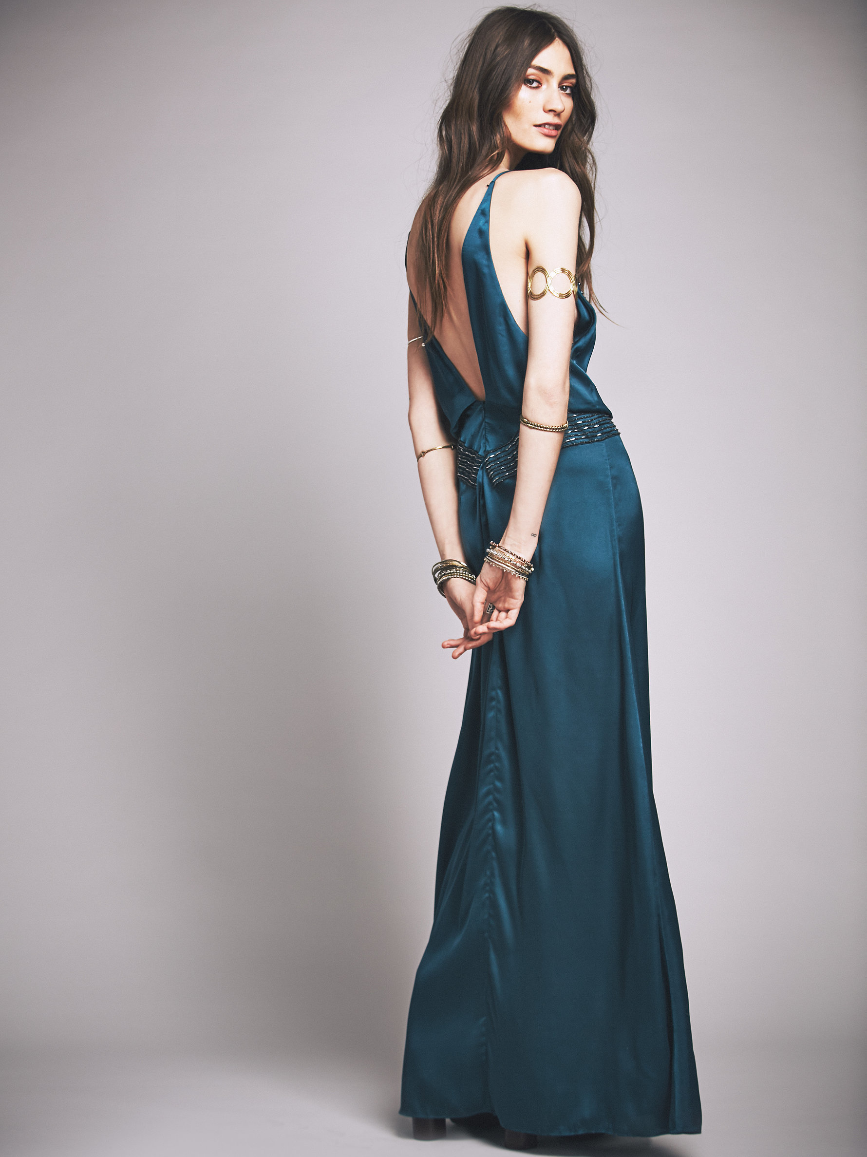 Lyst - Free People Jaded Gown in Blue