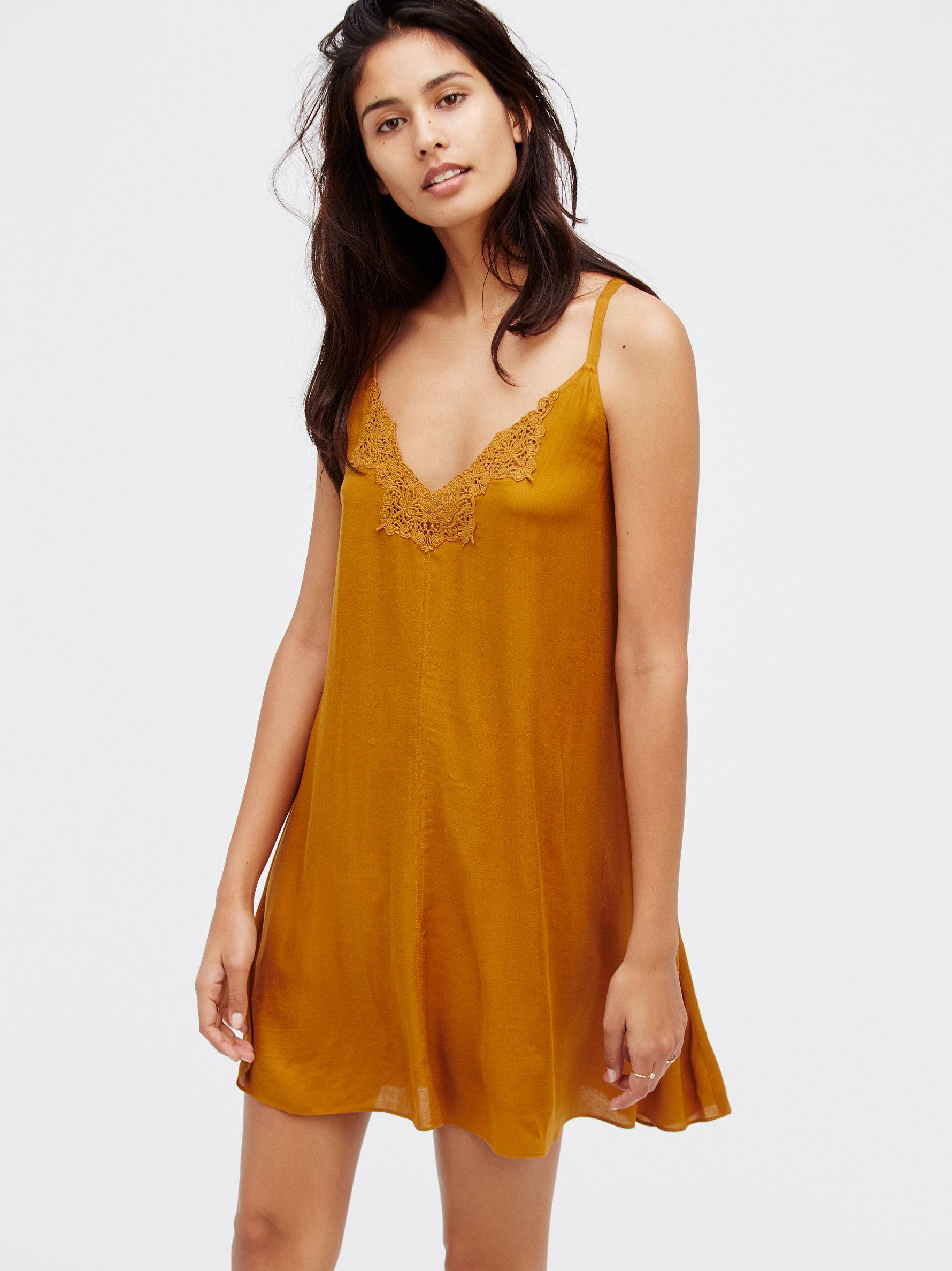 b367c98156ba Free People Kendall Trapeze Slip - Lyst