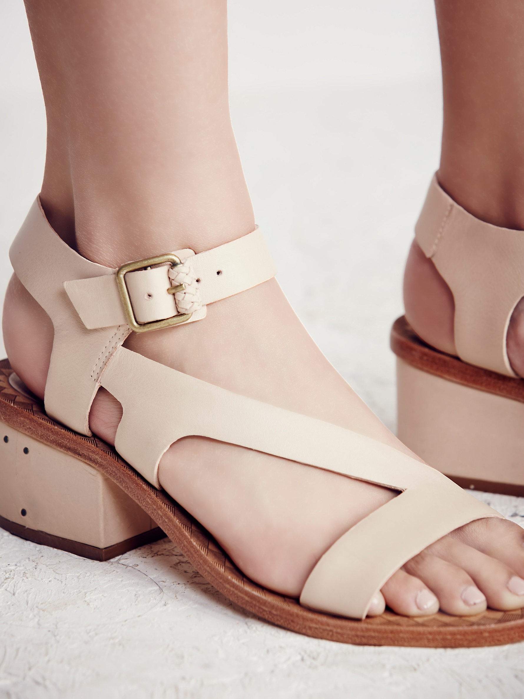 7ce3125b3d2 Lyst - Free People Lana Block Heel Sandal in Natural