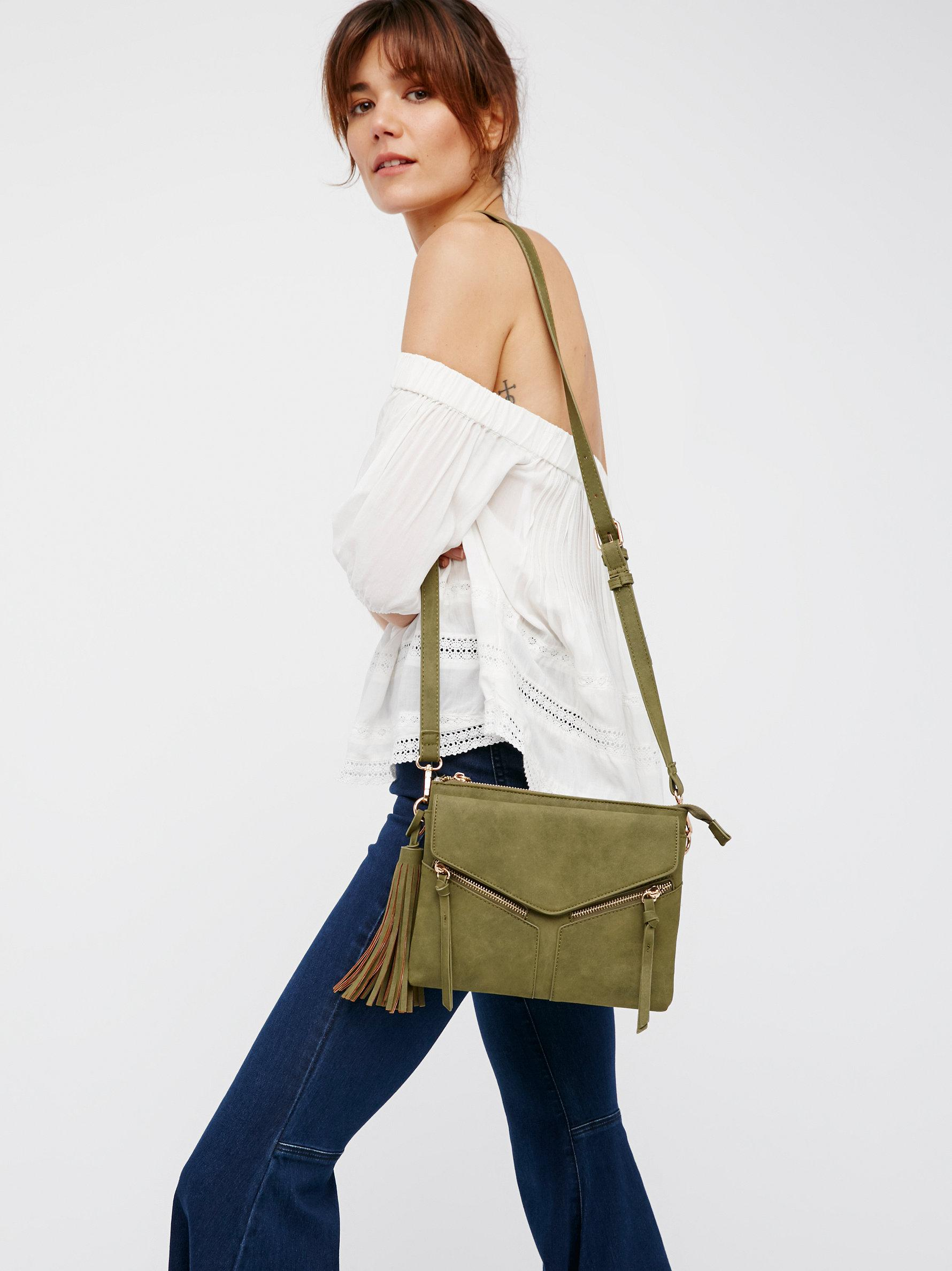 7cb68344c7d8 Lyst - Free People Leanna Vegan Crossbody in Green