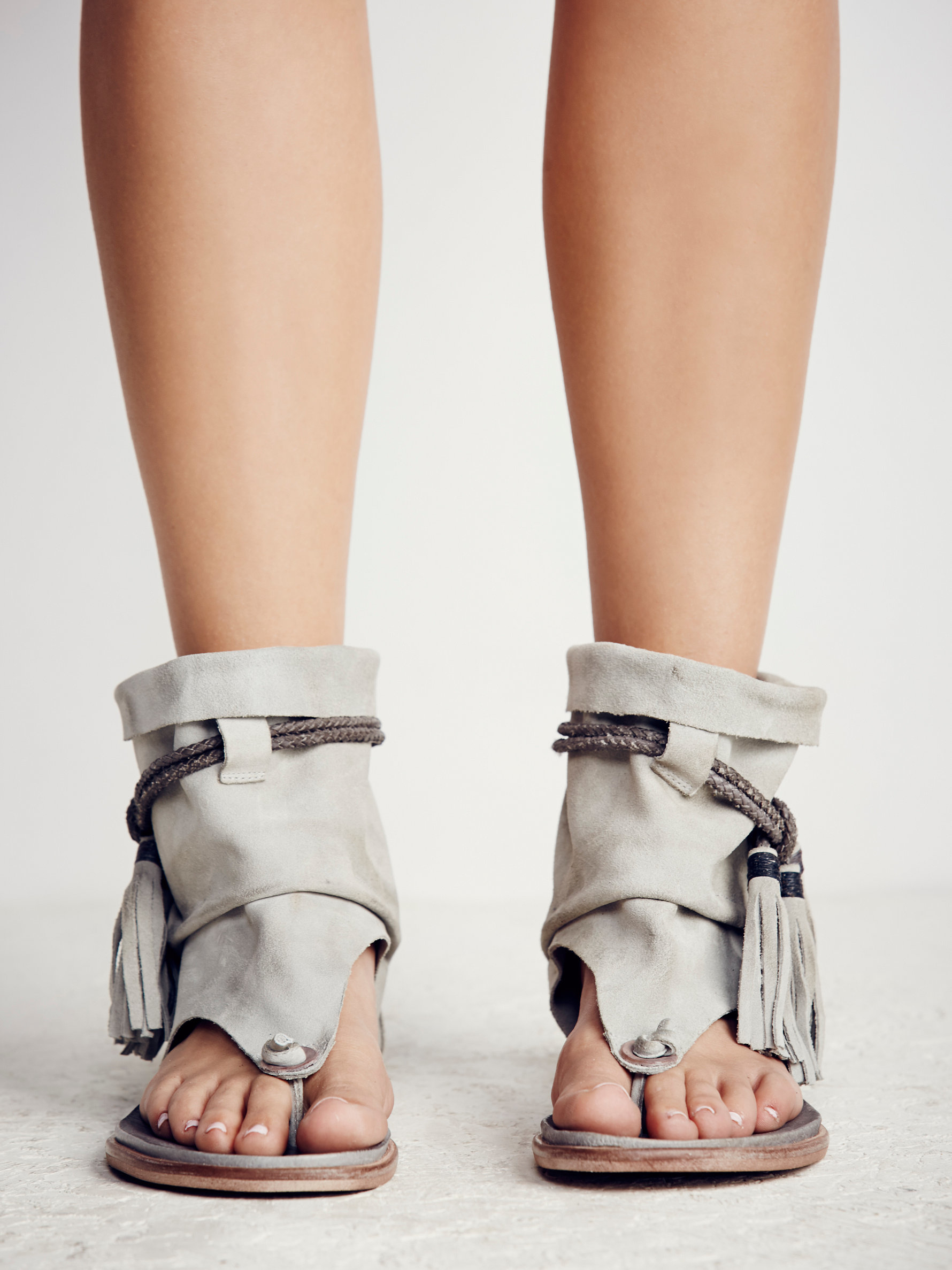 Lyst Free People Marlo Boot Sandal In Gray