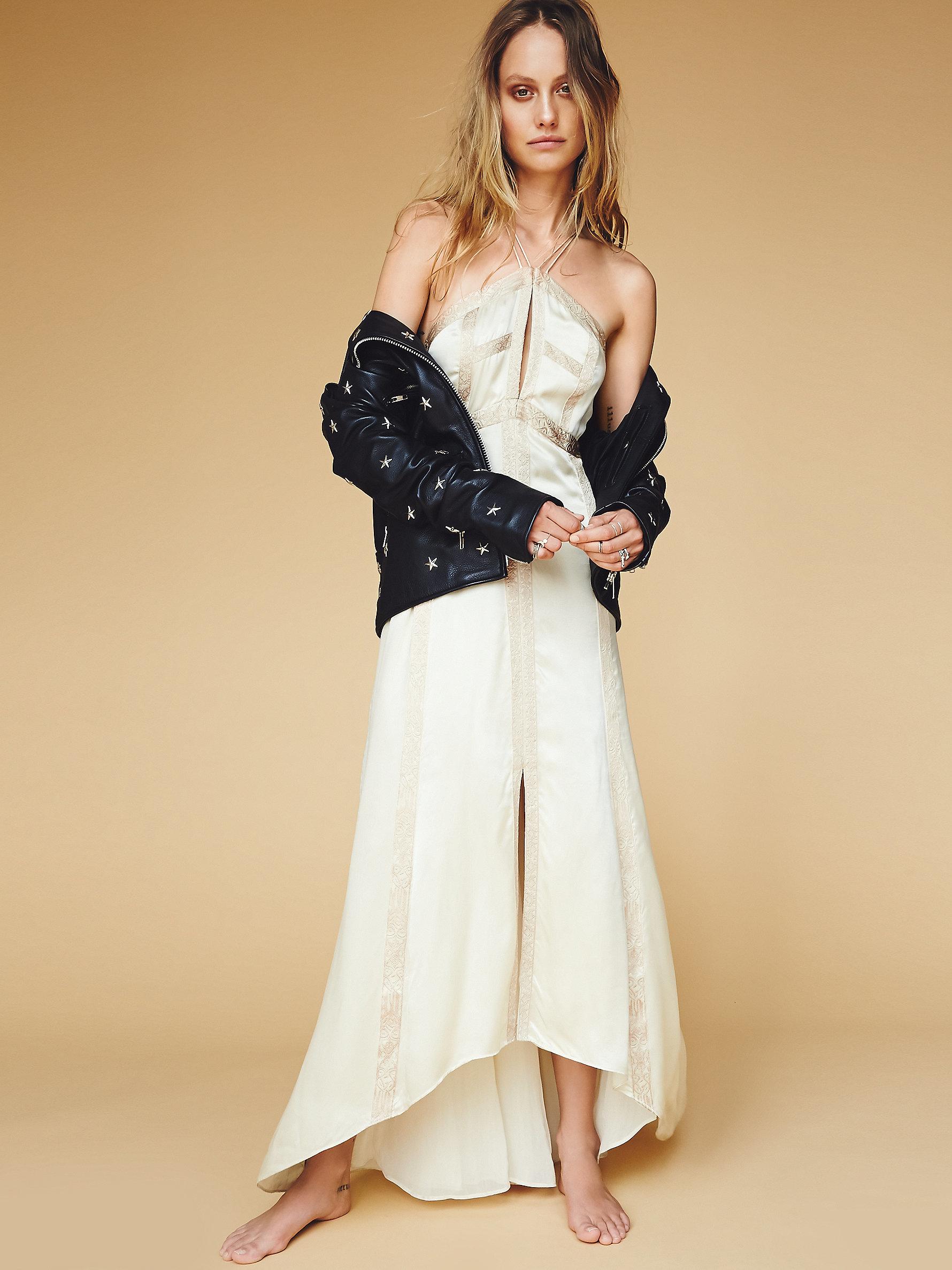 6f4da43eec144 Free People Moonbeams Silk Dress - Lyst