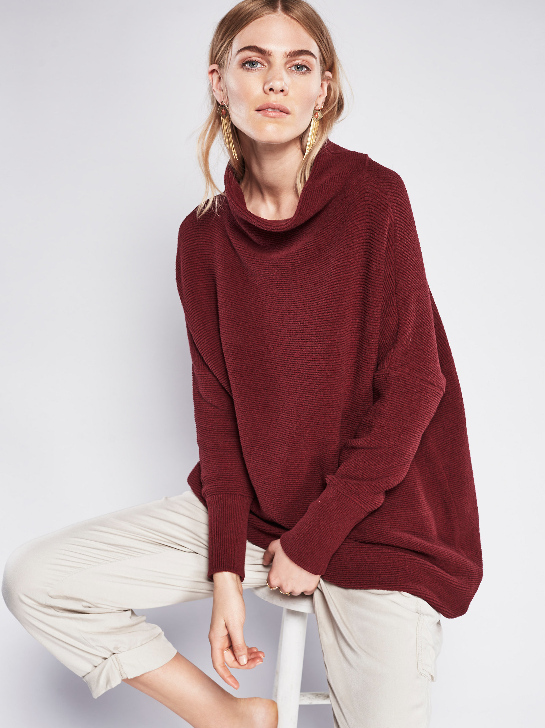 Free People Ottoman Slouchy Tunic In Red Lyst