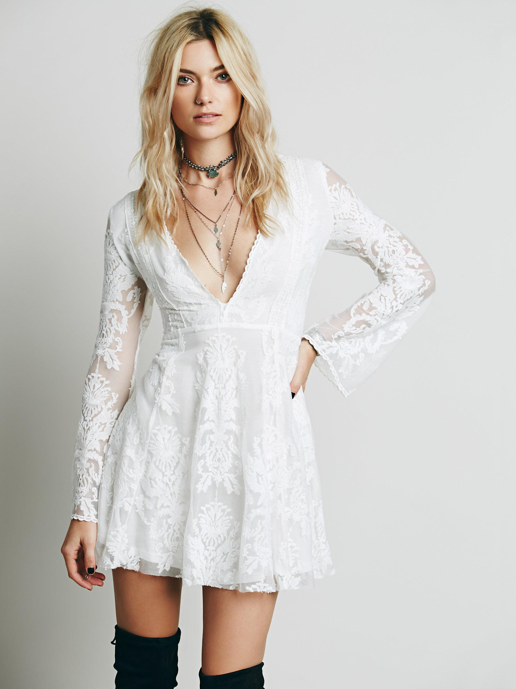 Free People Reign Over Me Lace Dress In White Lyst
