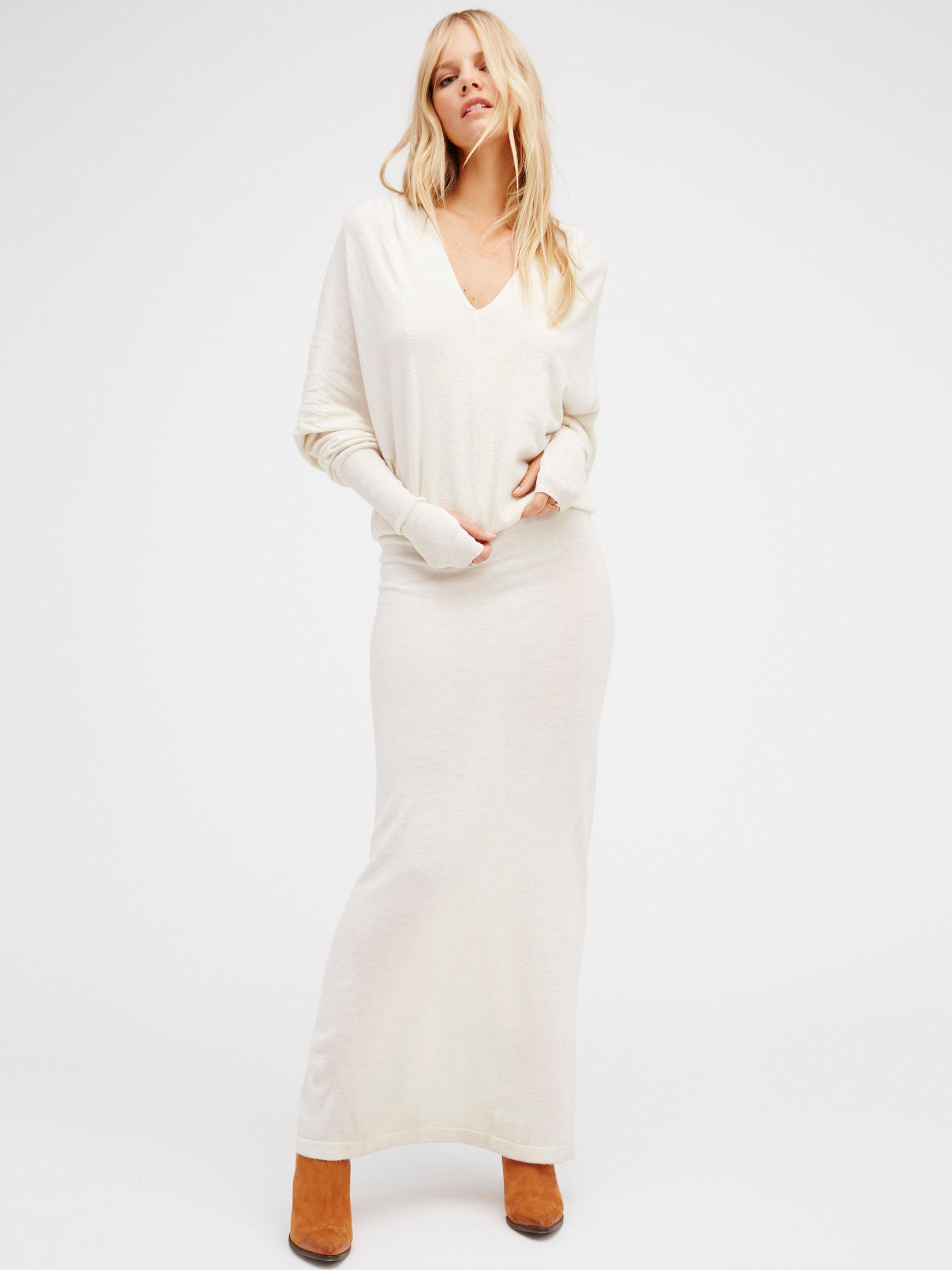 Free people Reversible Long Sweater Dress | Lyst