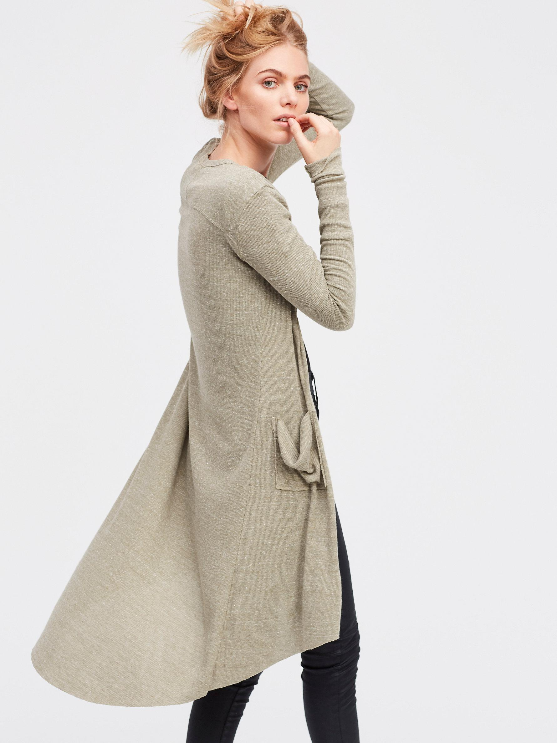 Free people Ribbed Up Maxi Cardigan | Lyst