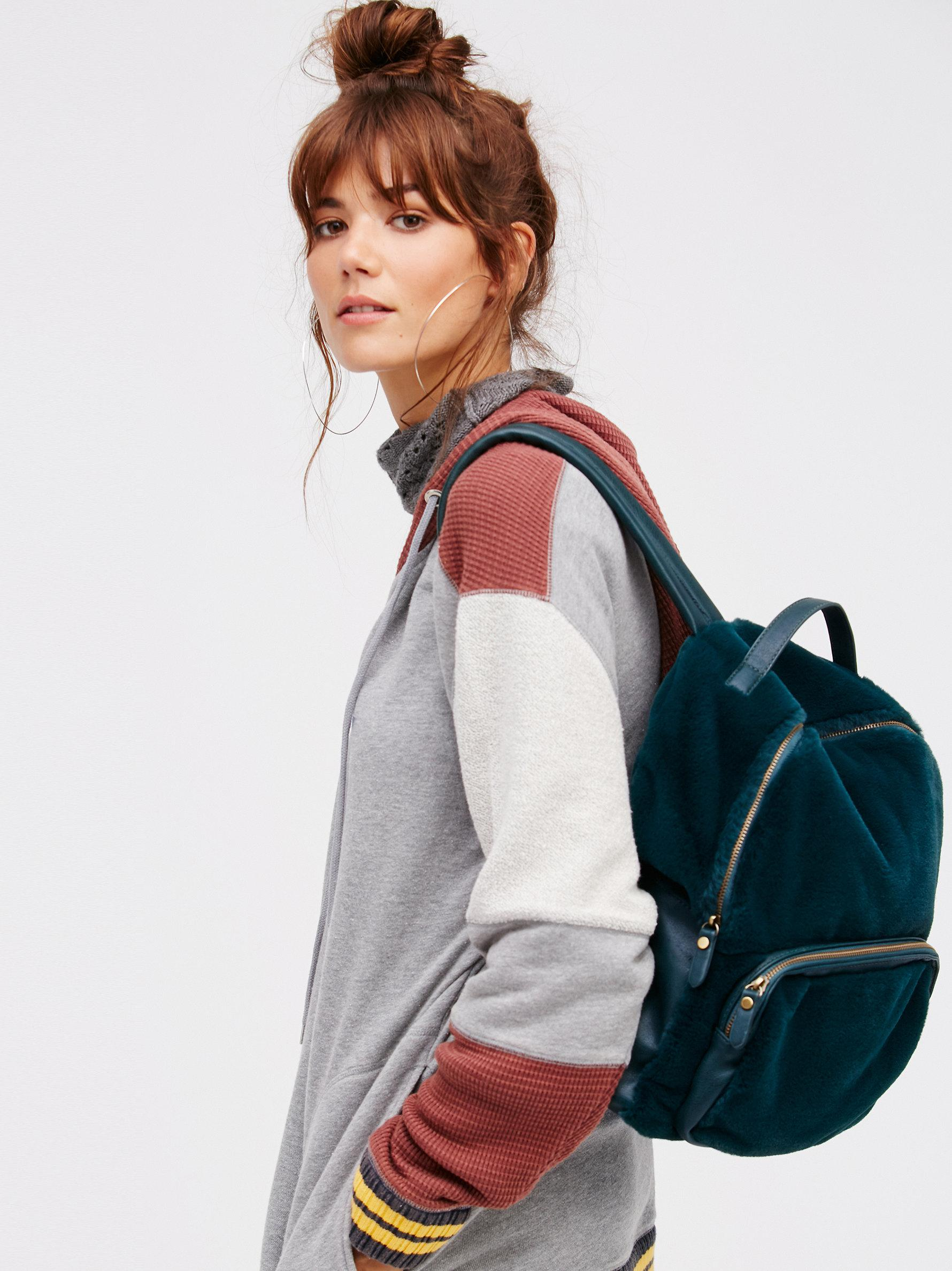 Lyst - Free People Russo Faux Fur Backpack