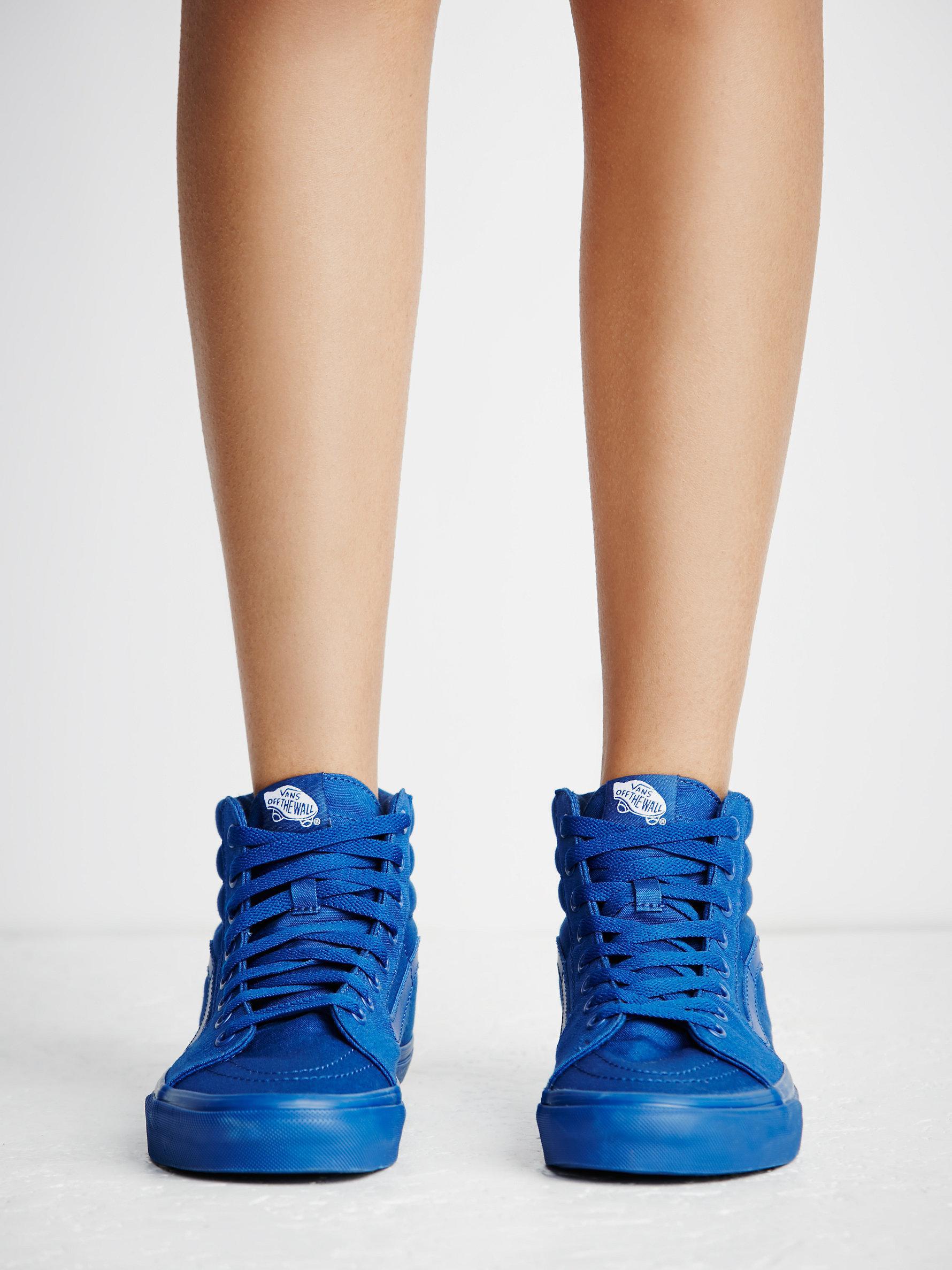 Lyst - Free People Sk8-hi Mono Canvas Sneaker in Blue 76c486d10