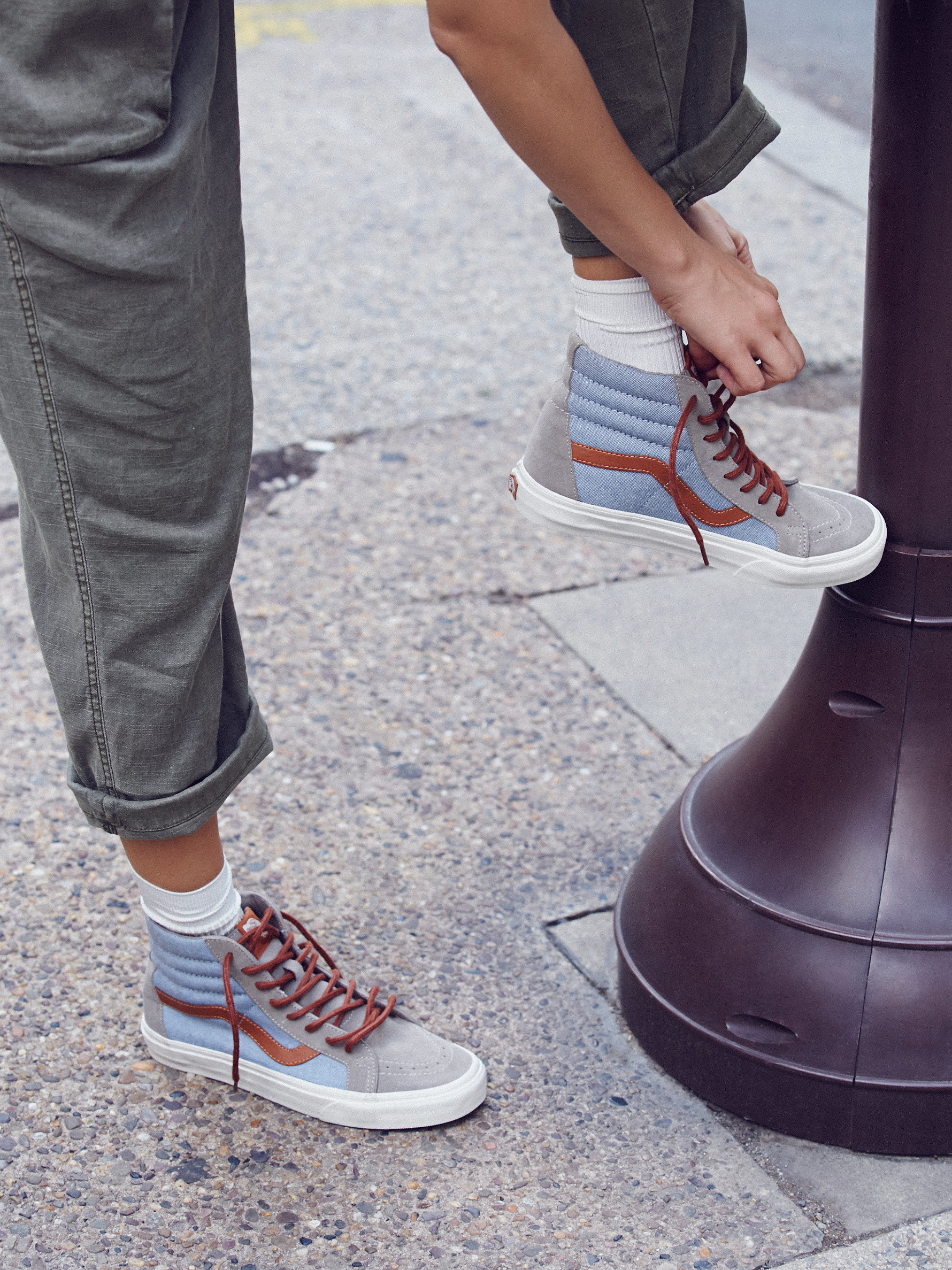 Lyst - Free People Sk8-hi Reissue Dx Sneaker in Blue 742d1adc2