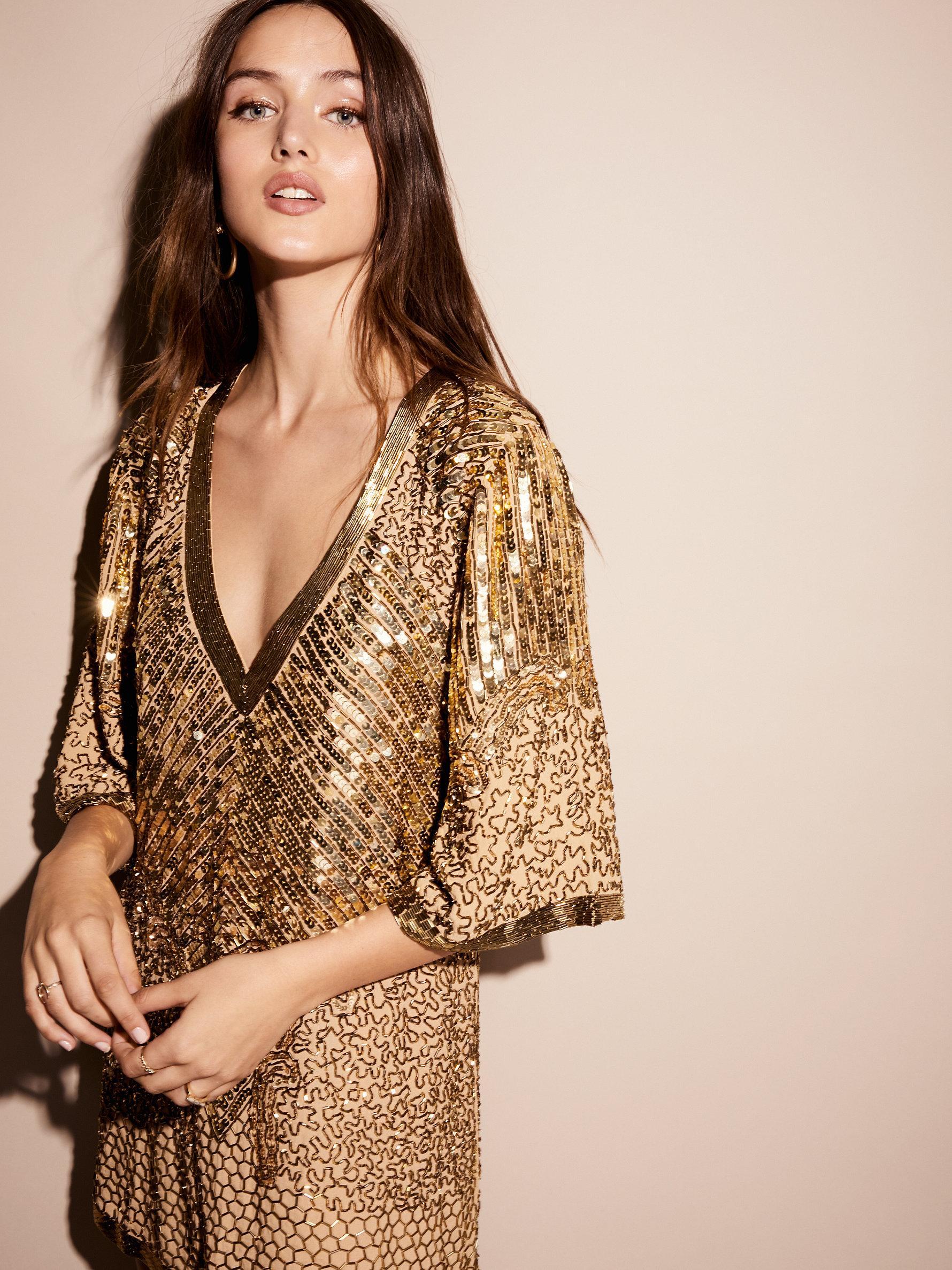 Lyst Free People Stardust Sequin Mini Dress In Metallic