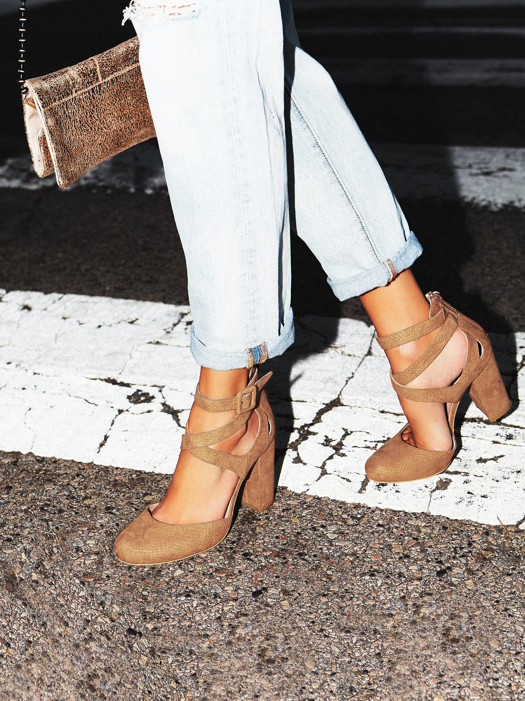 3e2751e74384 Lyst - Free People Vegan Atwood Heel in Natural